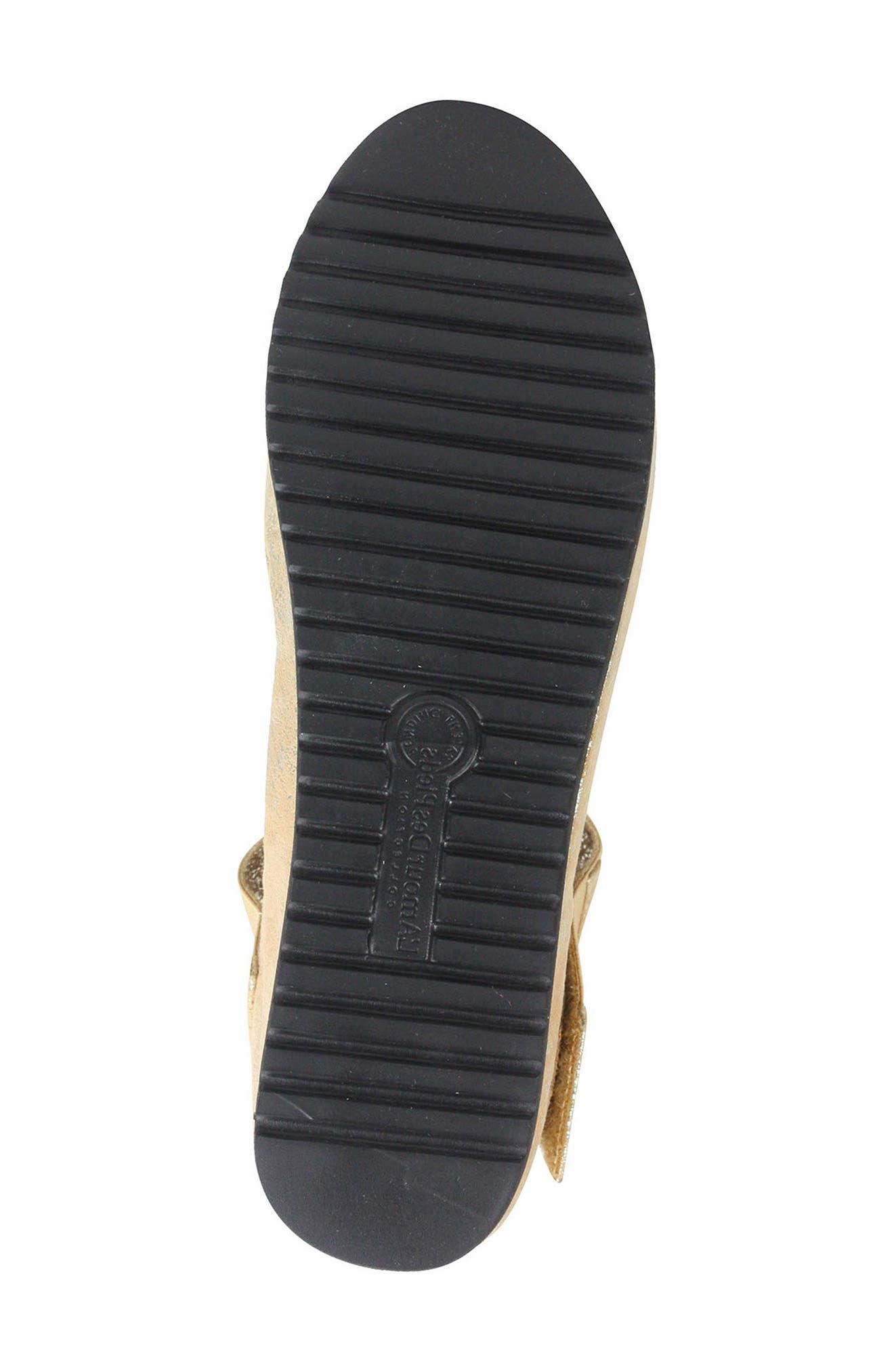L'AMOUR DES PIEDS, 'Amadour' Platform Sandal, Alternate thumbnail 6, color, GOLD LEATHER