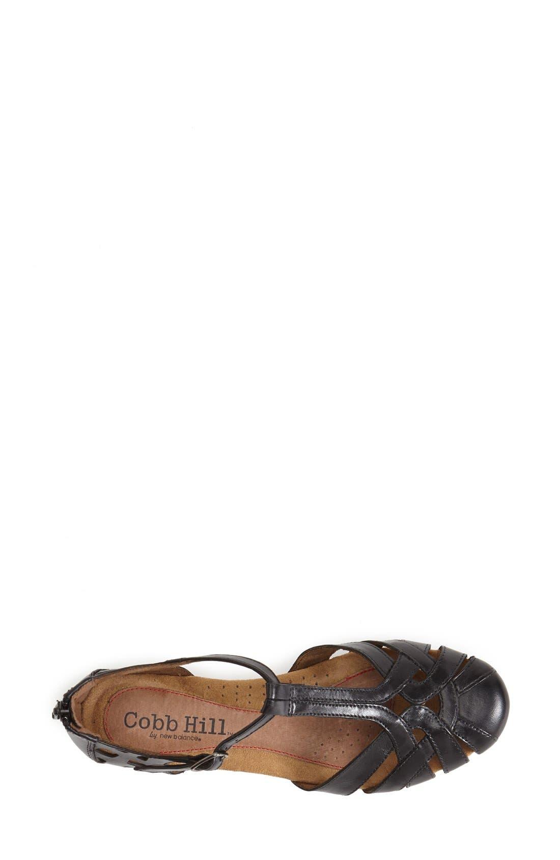 ROCKPORT COBB HILL, 'Ireland' Leather Sandal, Alternate thumbnail 4, color, BLACK