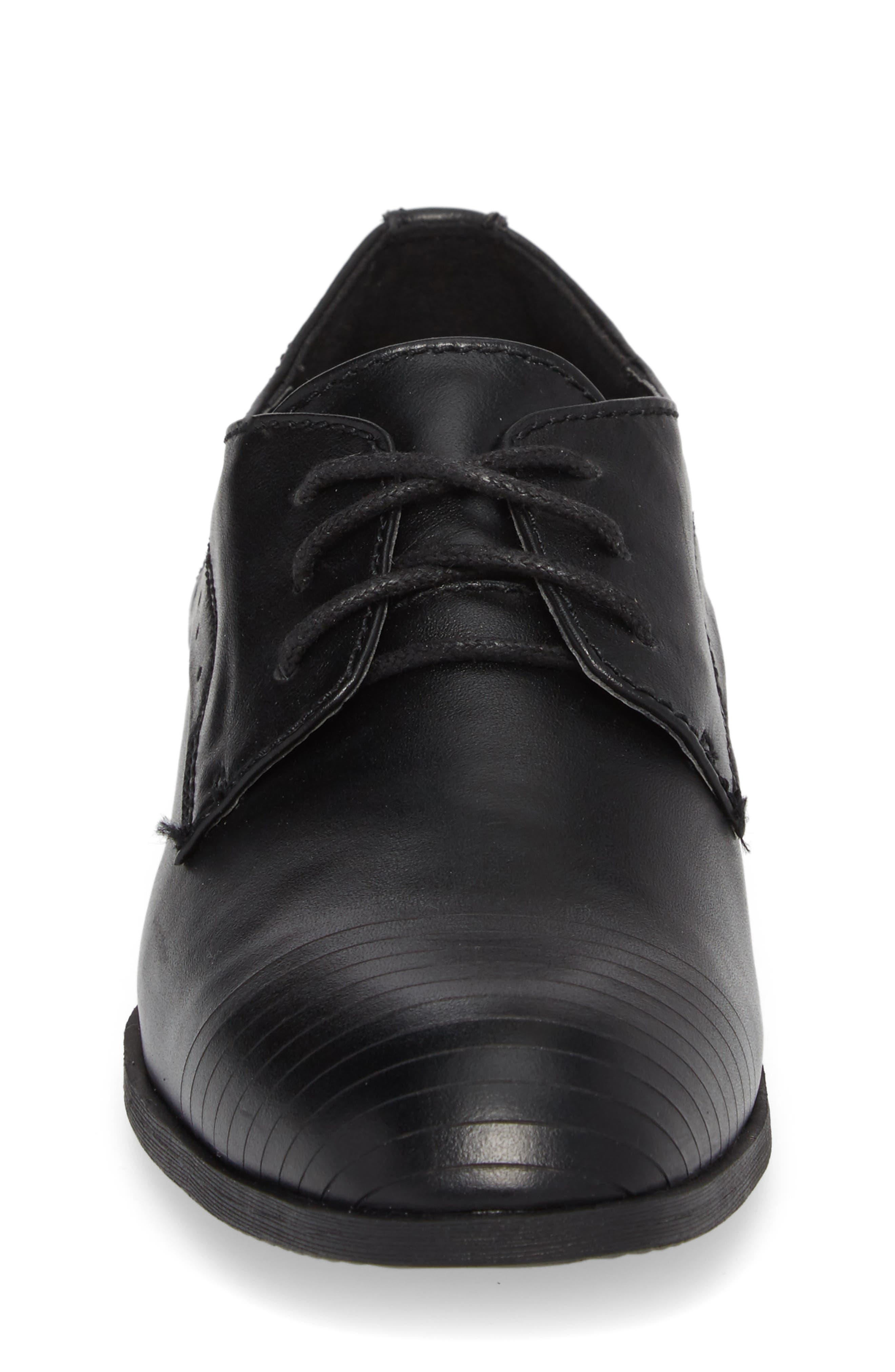 REACTION KENNETH COLE, Straight Line Derby, Alternate thumbnail 4, color, BLACK