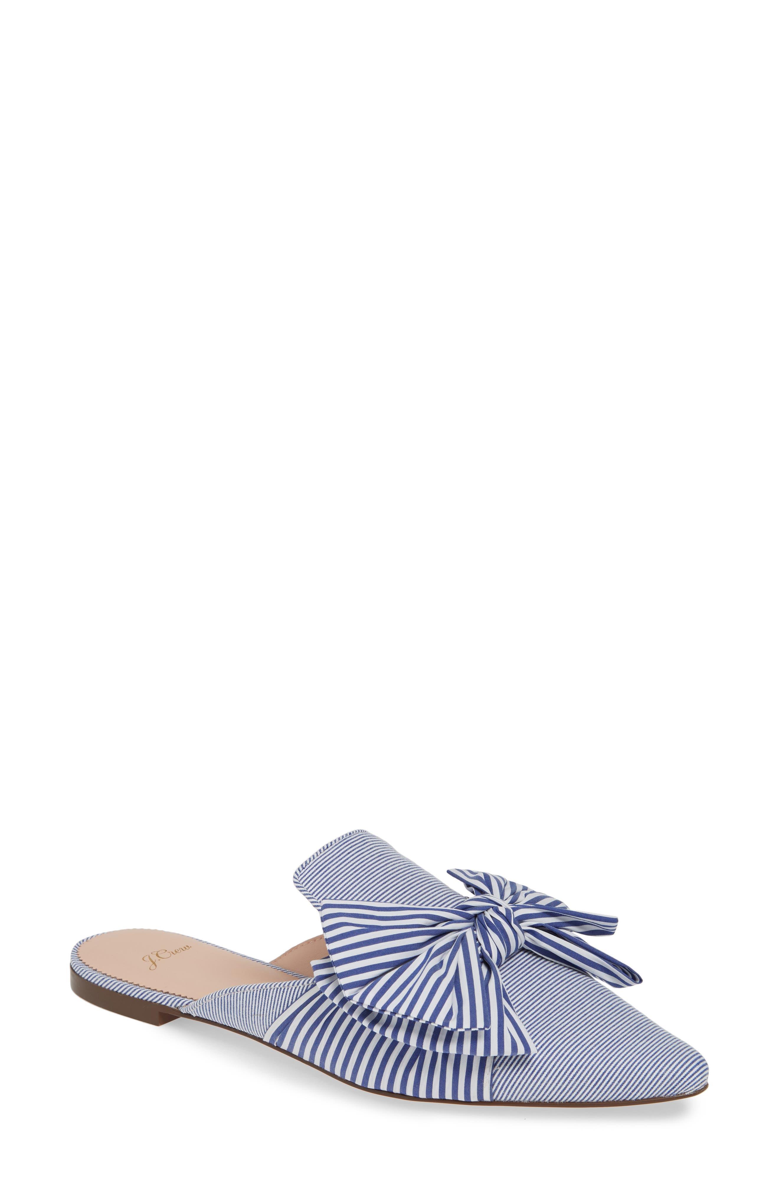 J.CREW Pointed Toe Mule, Main, color, OCEAN WHITE