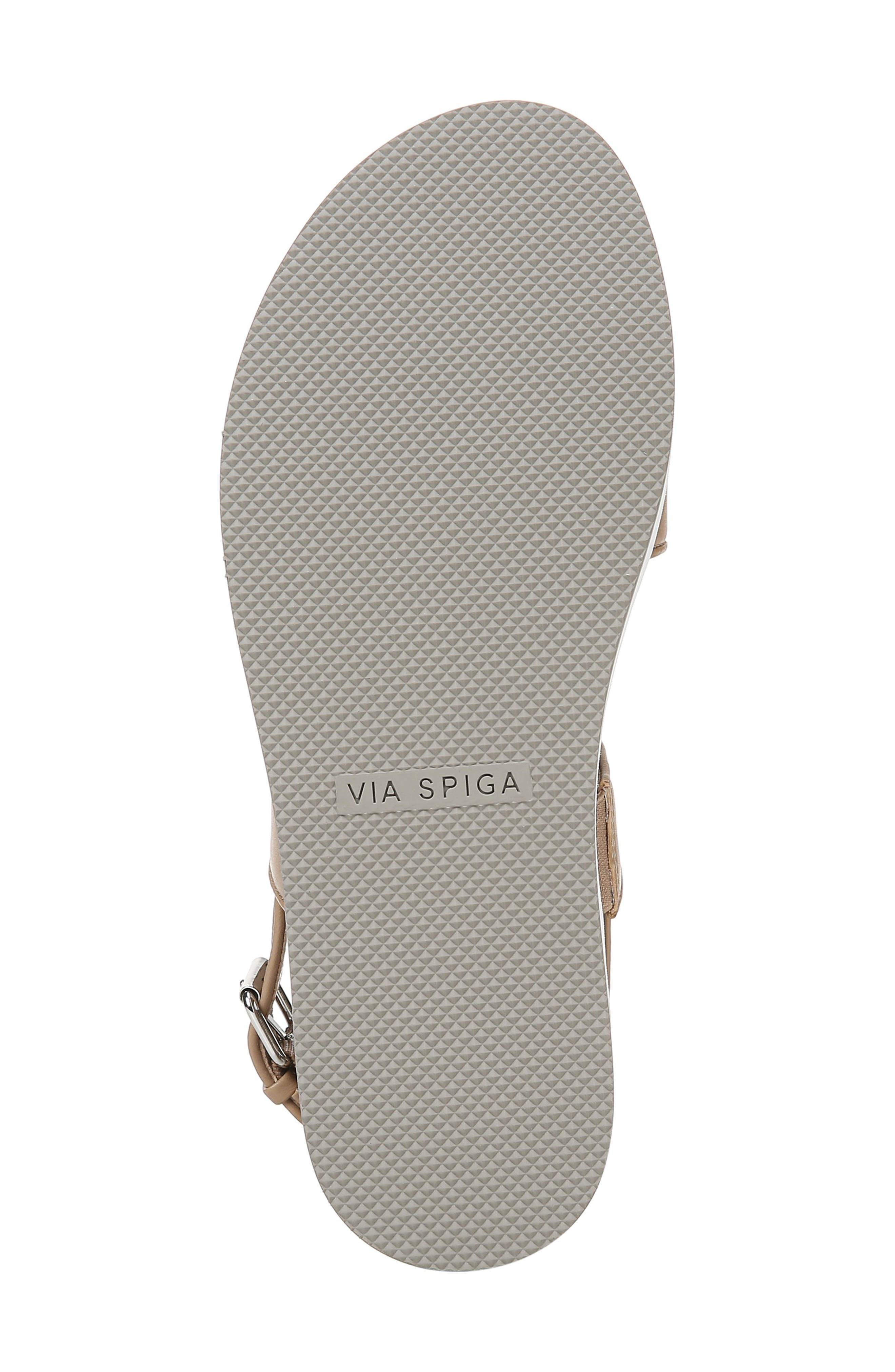 VIA SPIGA, Davi Platform Sandal, Alternate thumbnail 6, color, DESERT NAPPA