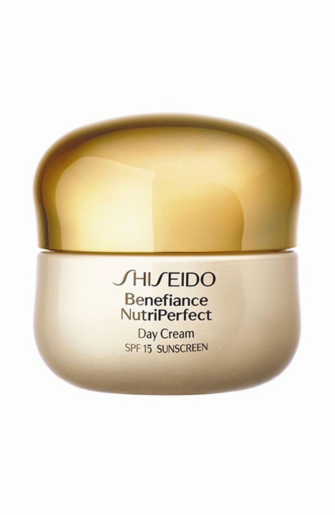 SHISEIDO, Benefiance NutriPerfect Day Cream Broad Spectrum SPF 15, Main thumbnail 1, color, NO COLOR