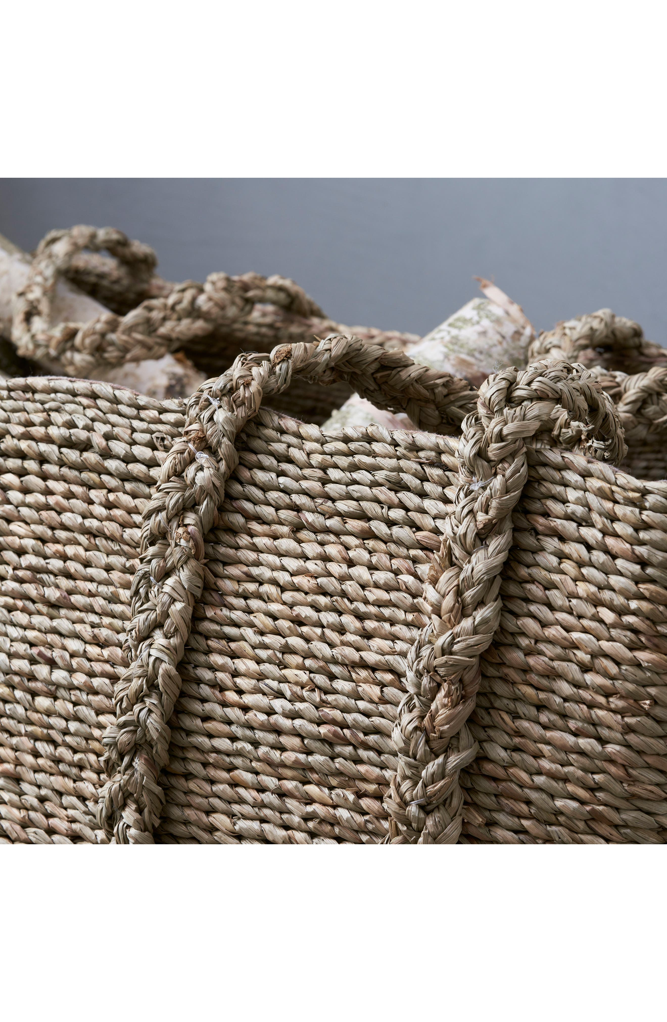 THE WHITE COMPANY, Large Woven Storage Basket, Alternate thumbnail 2, color, NATURAL