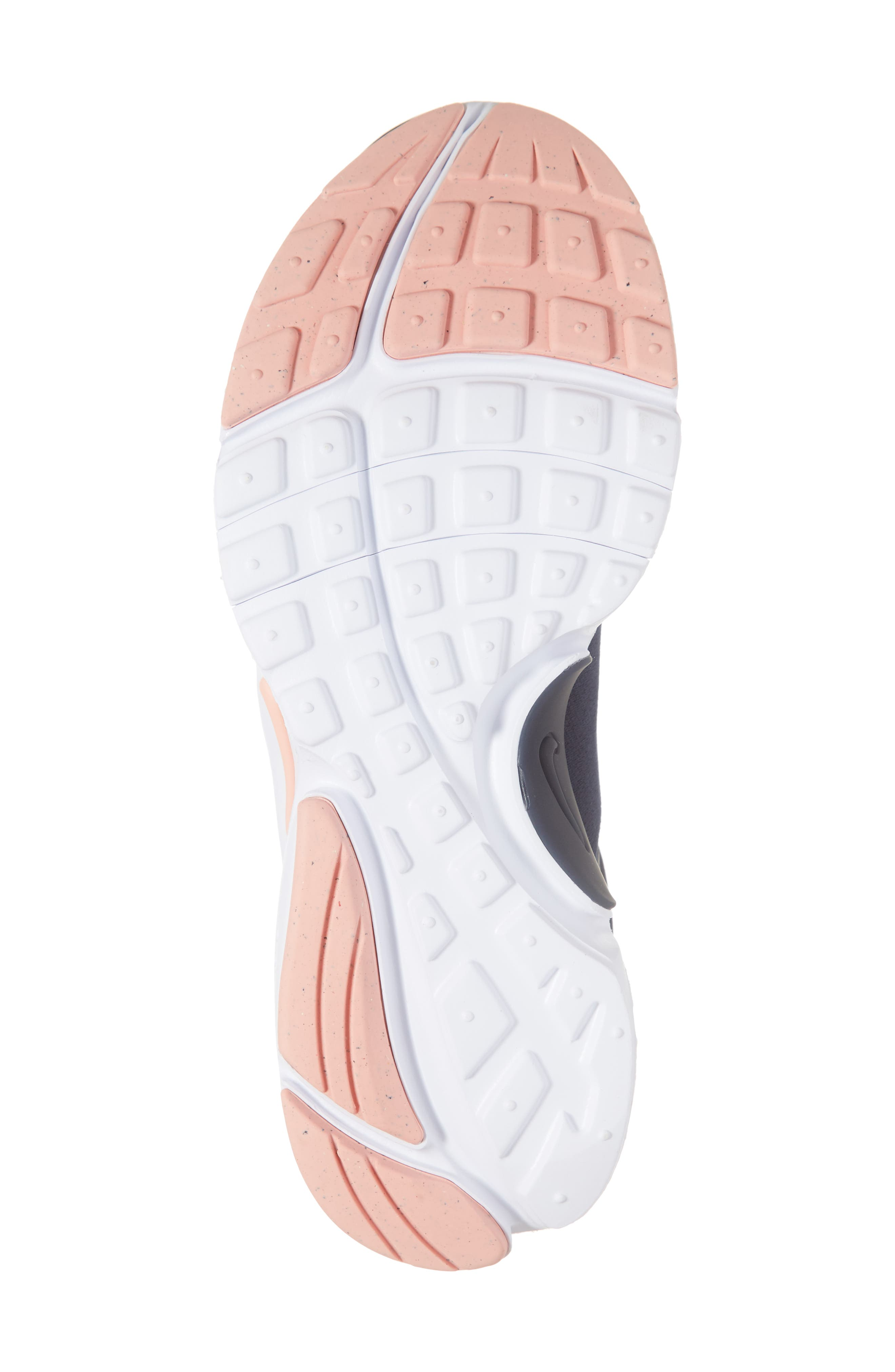NIKE, Presto Extreme VDAY Sneaker, Alternate thumbnail 6, color, OBSIDIAN/ BLEACHED CORAL-WHITE