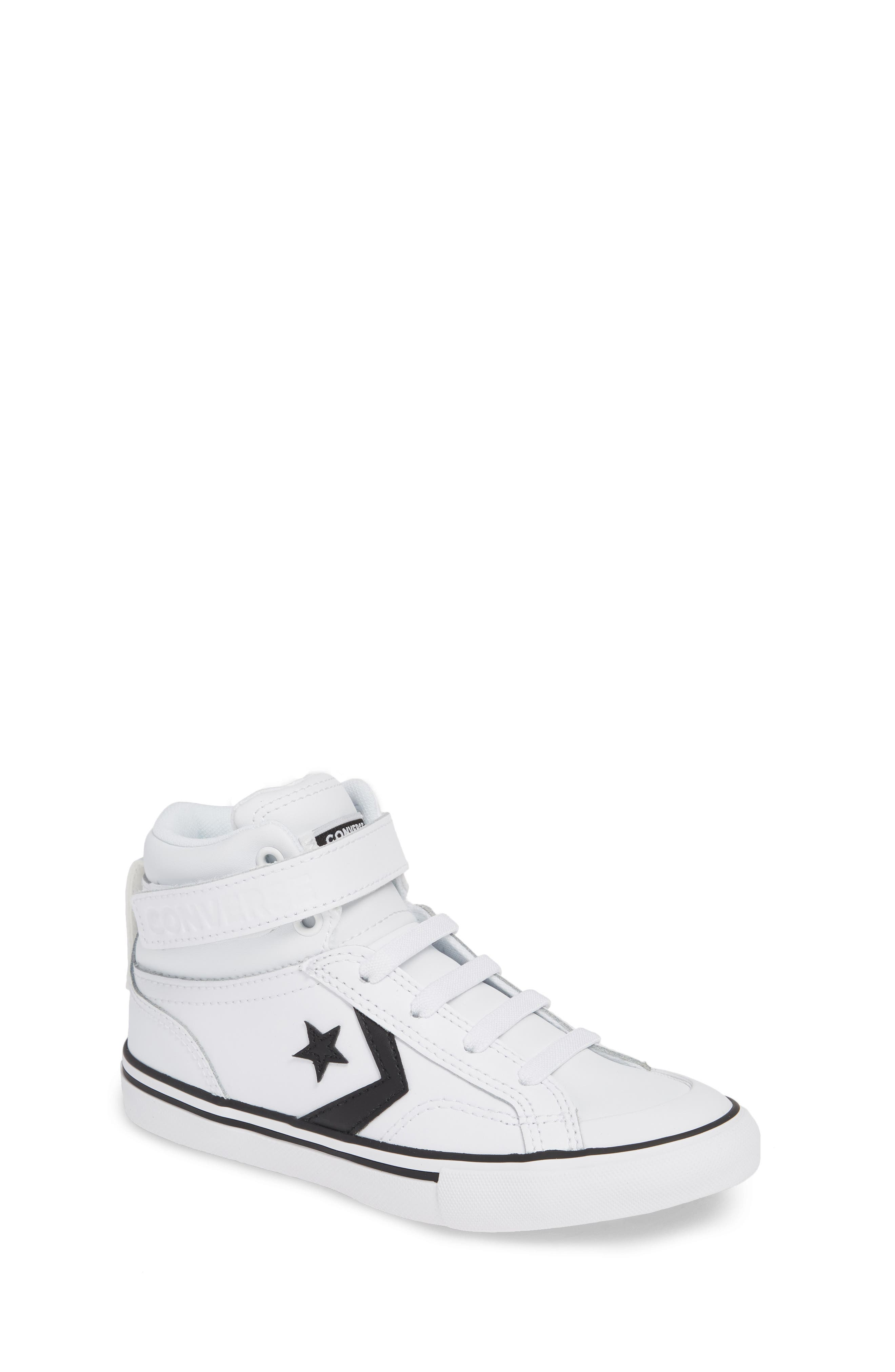 CONVERSE, Pro Blaze High Top Sneaker, Main thumbnail 1, color, WHITE/ BLACK/ WHITE
