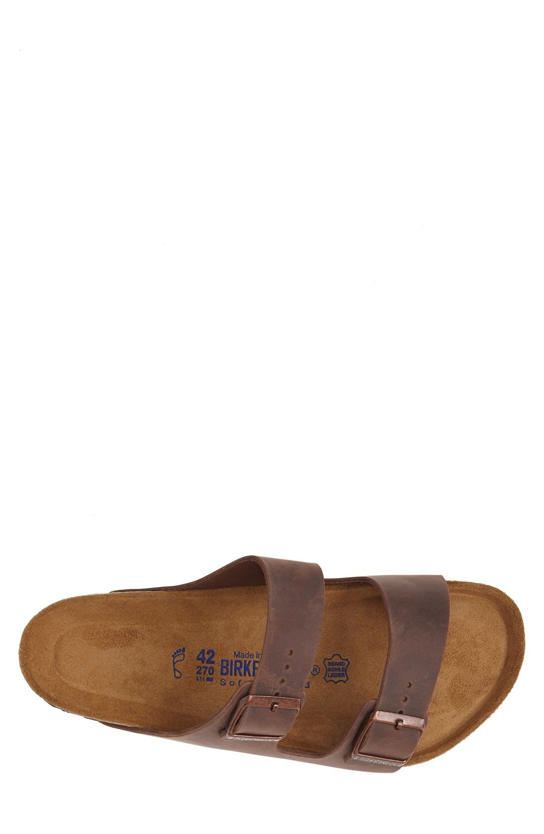 BIRKENSTOCK, Arizona Soft Slide Sandal, Alternate thumbnail 9, color, HABANA