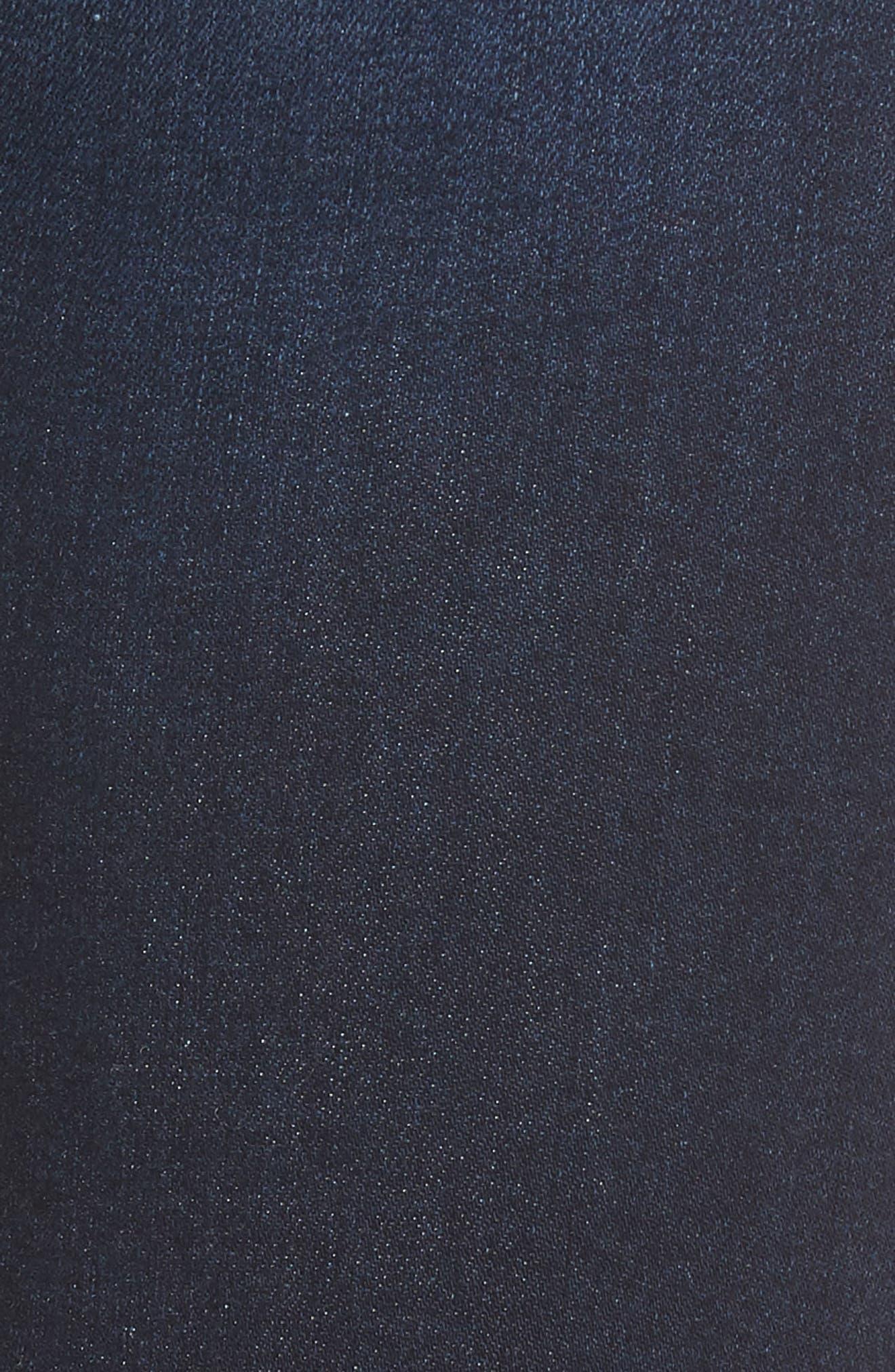 STS BLUE, Ellie High Waist Ankle Skinny Jeans, Alternate thumbnail 6, color, DENLEY