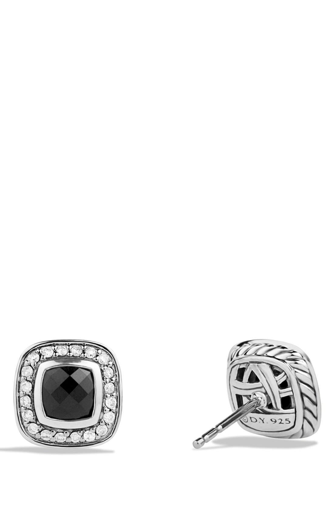 DAVID YURMAN, 'Albion' Petite Earrings with Diamonds, Alternate thumbnail 3, color, BLACK ONYX