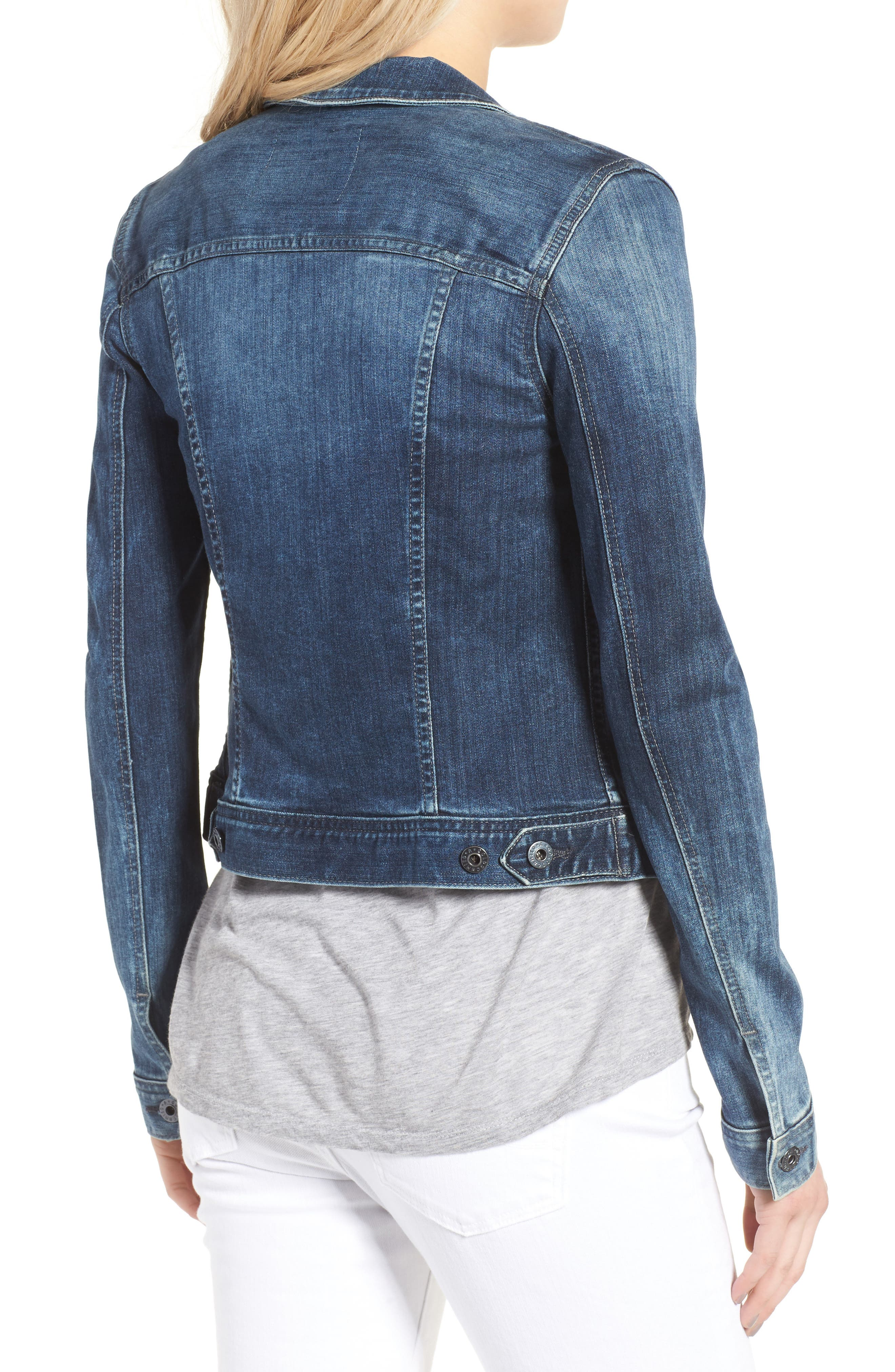 AG, 'Robyn' Denim Jacket, Alternate thumbnail 2, color, BLUE COVE