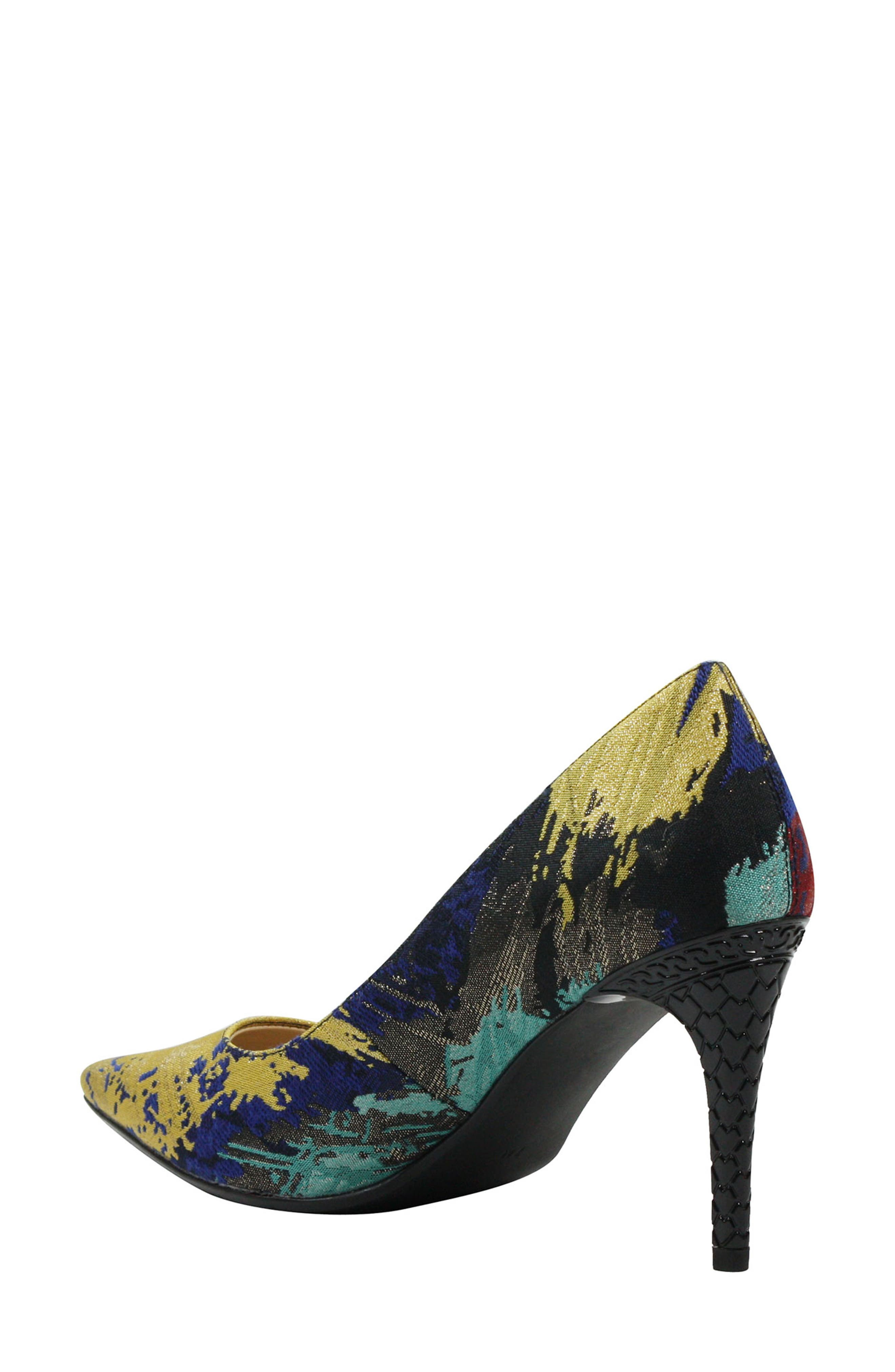 J. RENEÉ, 'Maressa' Pointy Toe Pump, Alternate thumbnail 2, color, BLUE/ BLACK MULTI
