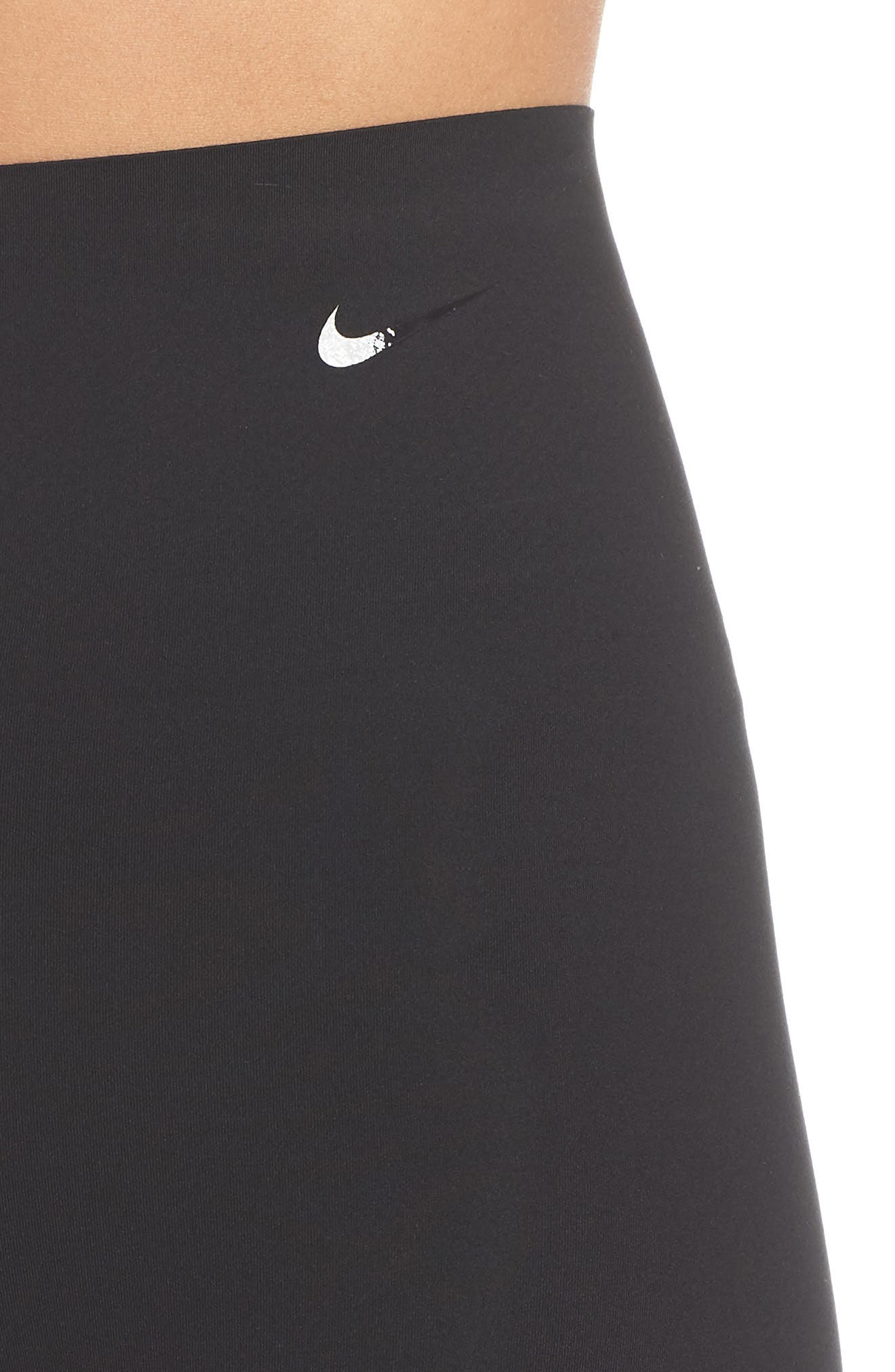 NIKE, Dry Sculpt Lux Tights, Alternate thumbnail 6, color, BLACK/ CLEAR