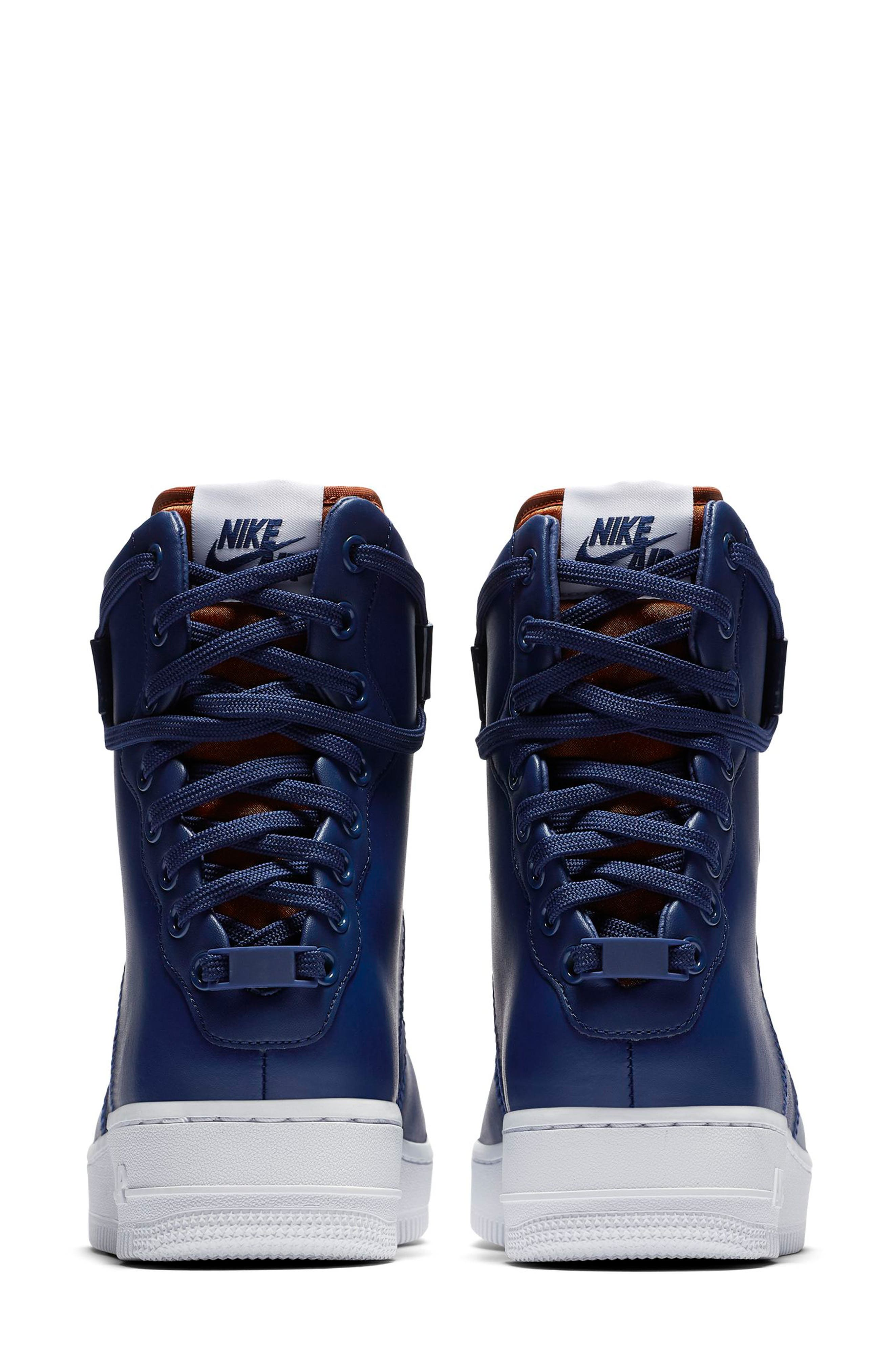 NIKE, Air Force 1 Rebel XX High Top Sneaker, Alternate thumbnail 2, color, BLUE VOID/ RUSSET/ WHITE/ BLUE