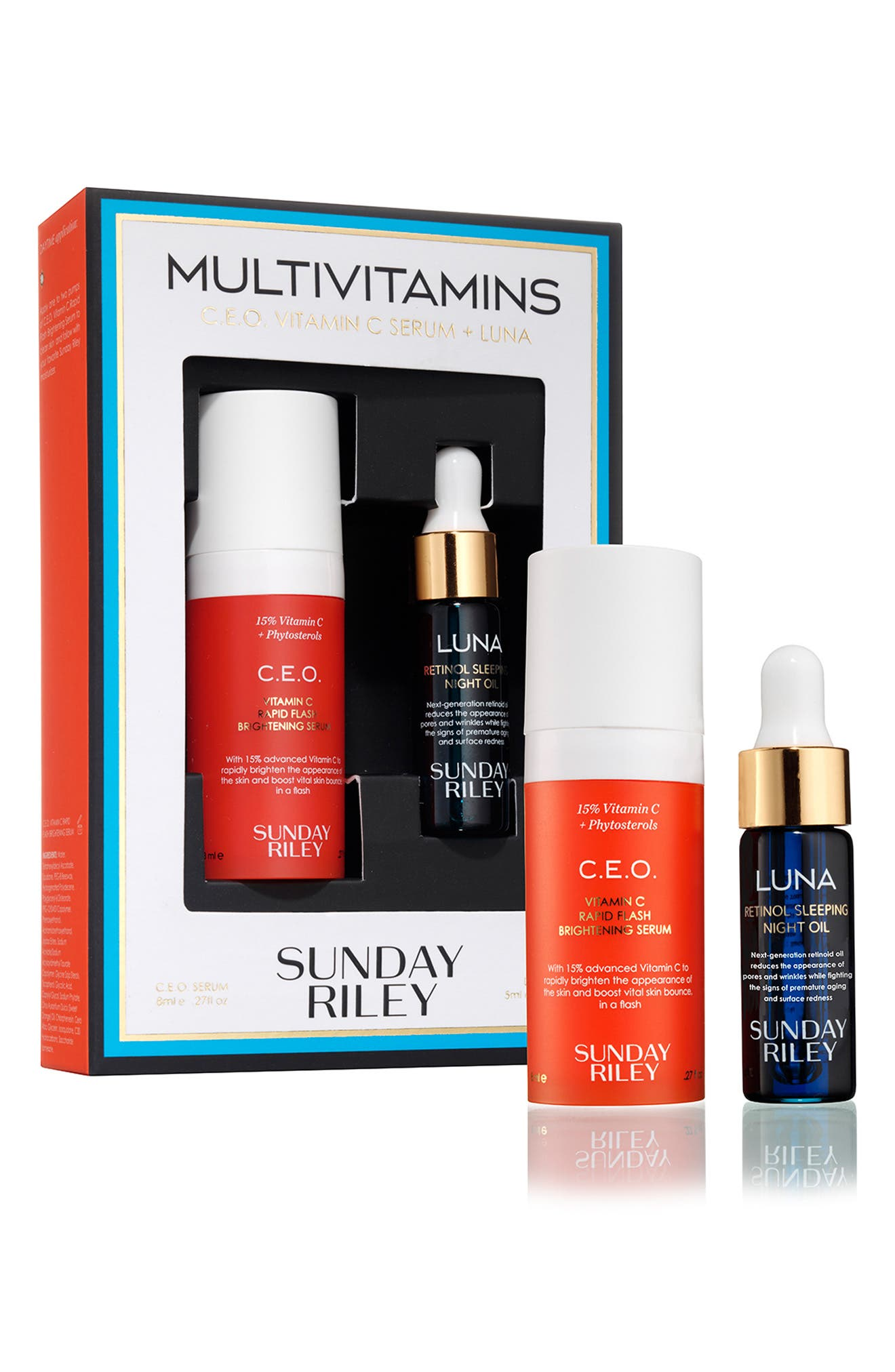 SUNDAY RILEY, SPACE.NK.apothecary Sunday Riley Multivitamins Kit, Alternate thumbnail 2, color, NO COLOR