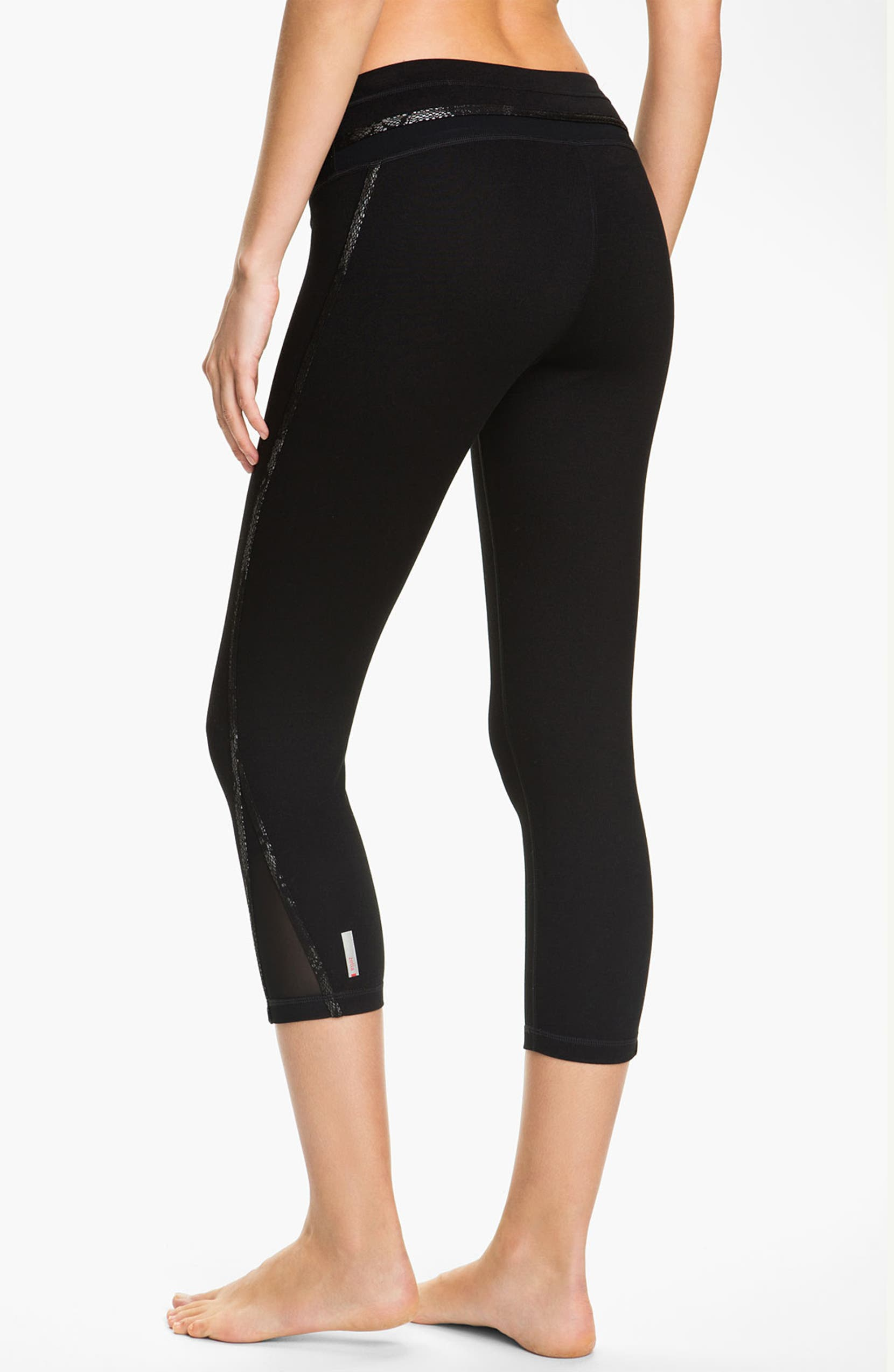 0096e844c771ed Zella 'Live In' Foil Trim Leggings | Nordstrom