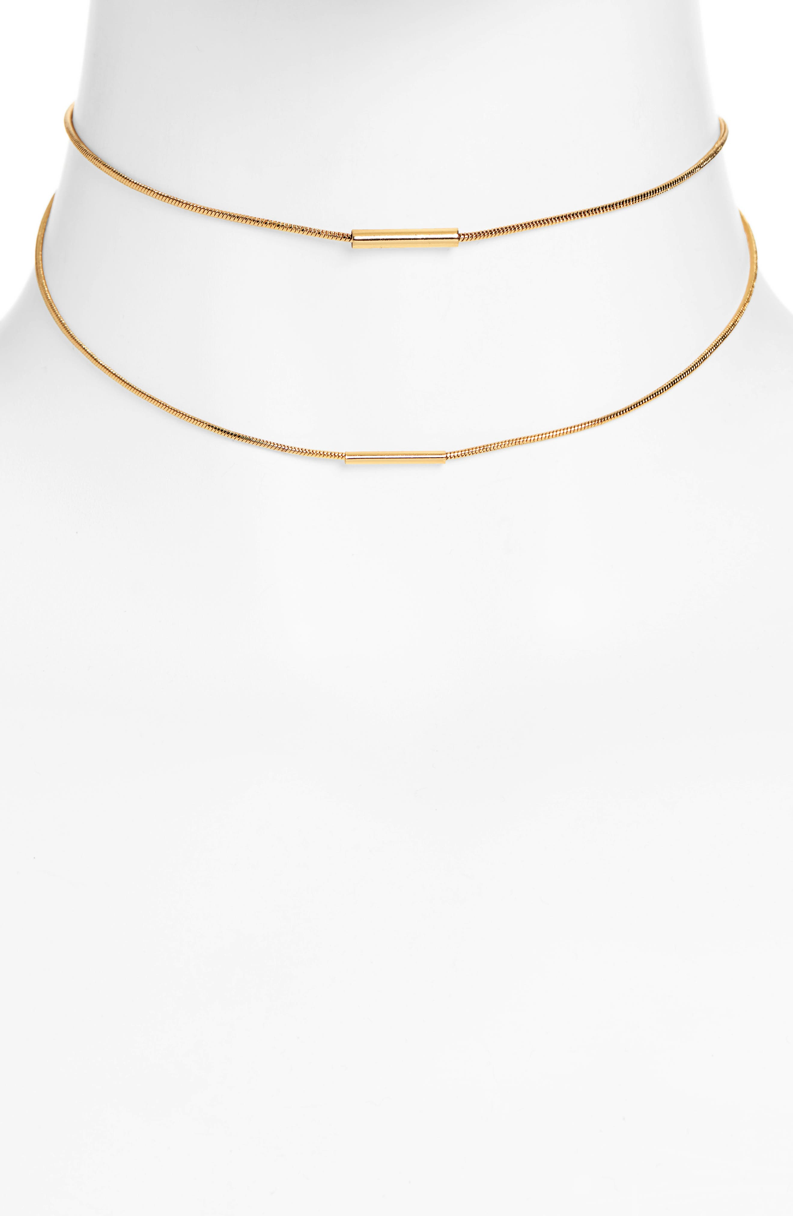 UNCOMMON JAMES BY KRISTIN CAVALLARI, Tennessee Multistrand Necklace, Main thumbnail 1, color, GOLD