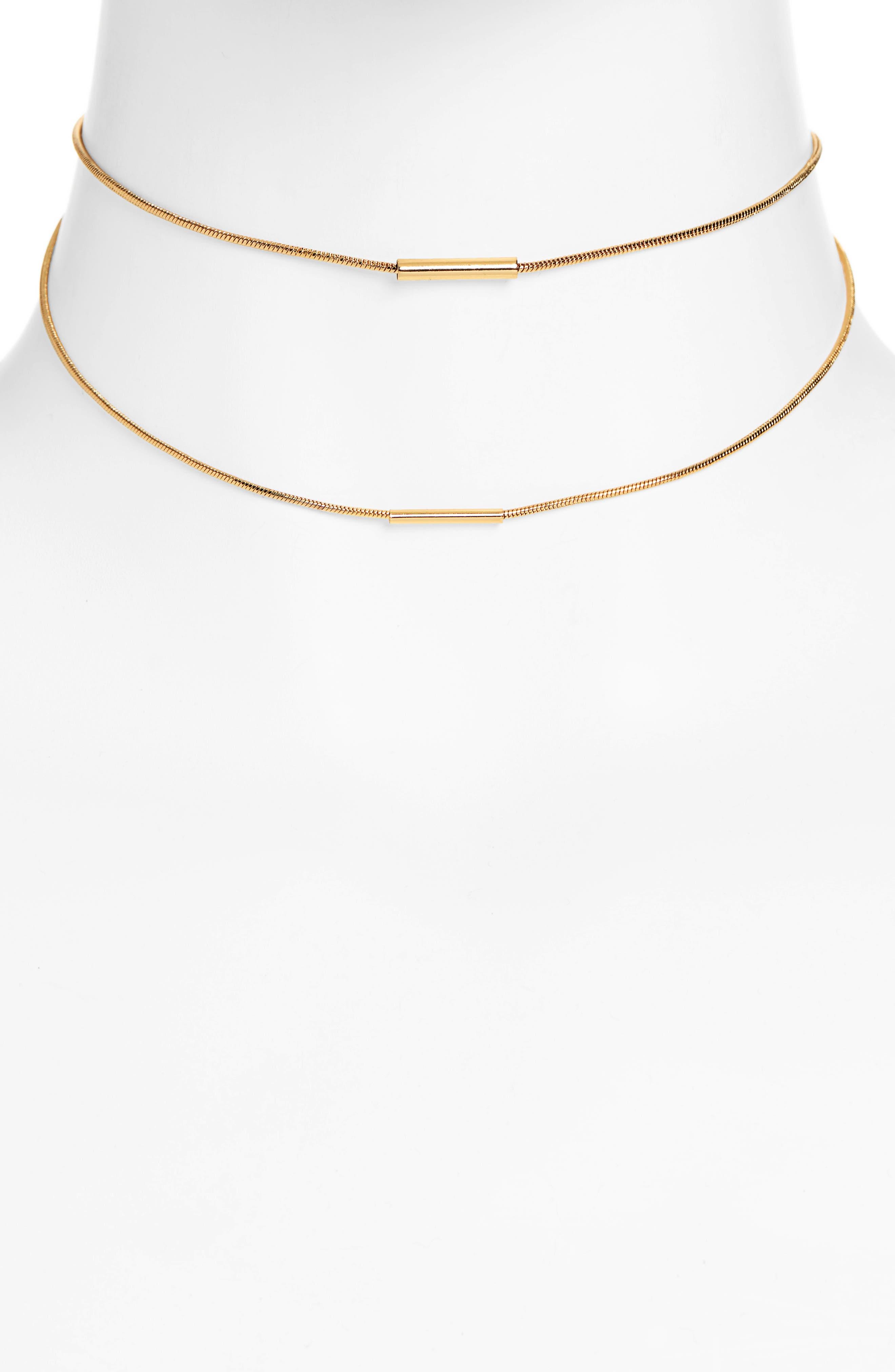 UNCOMMON JAMES BY KRISTIN CAVALLARI Tennessee Multistrand Necklace, Main, color, GOLD