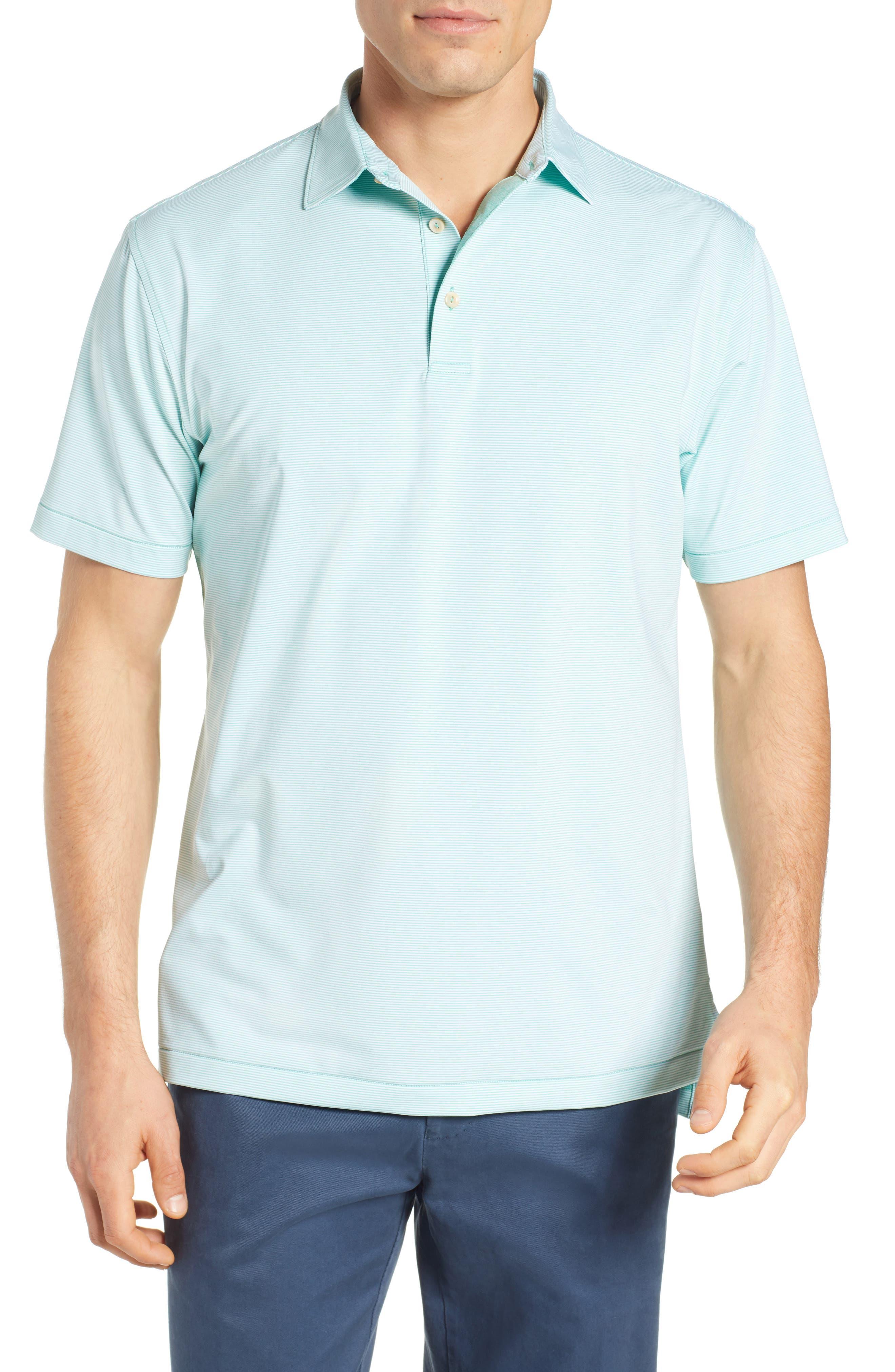PETER MILLAR, Jubilee Stripe Jersey Polo, Main thumbnail 1, color, MEADOW