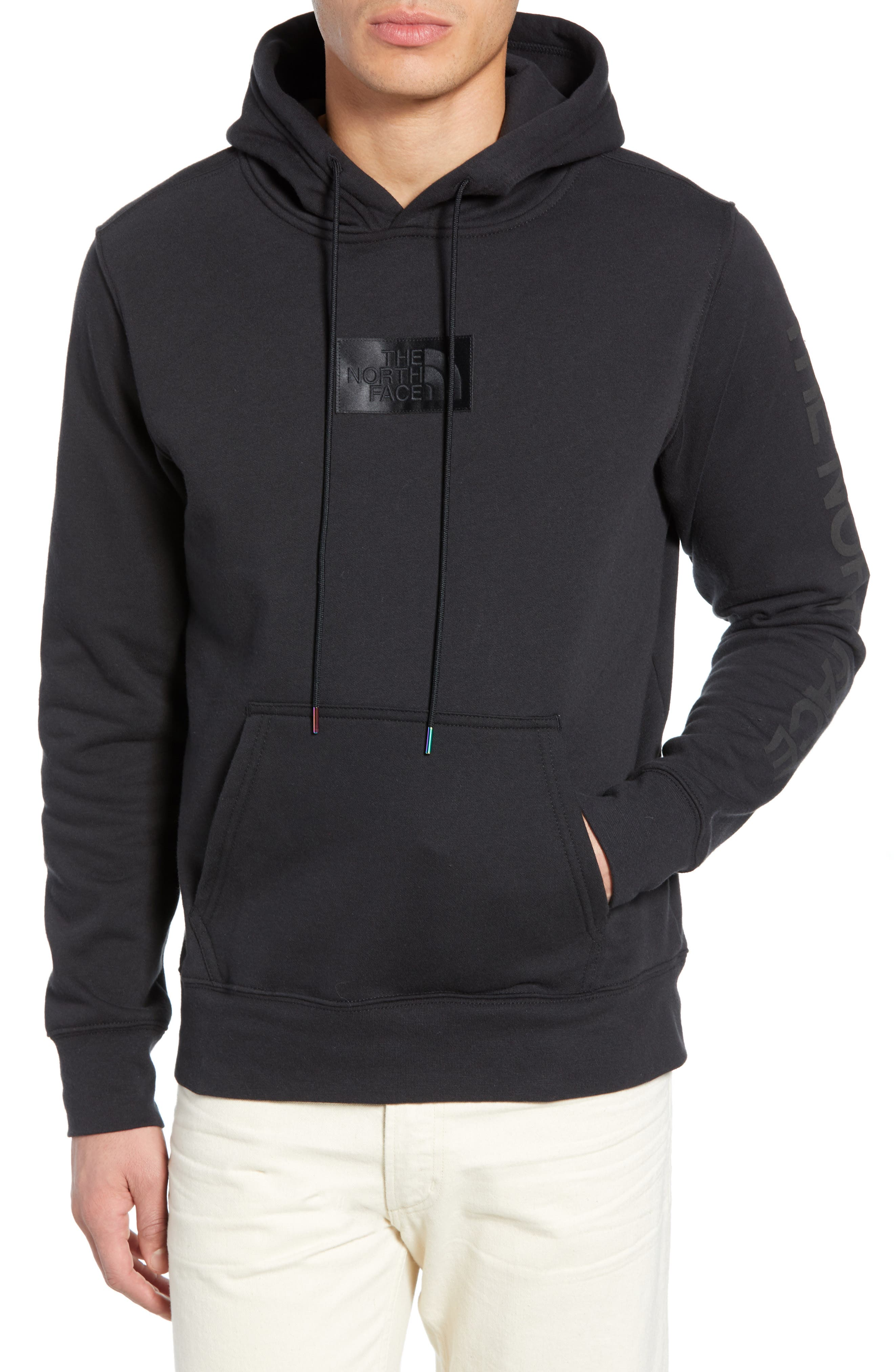 THE NORTH FACE, Urban Ex Collection Pullover Hoodie, Main thumbnail 1, color, TNF BLACK