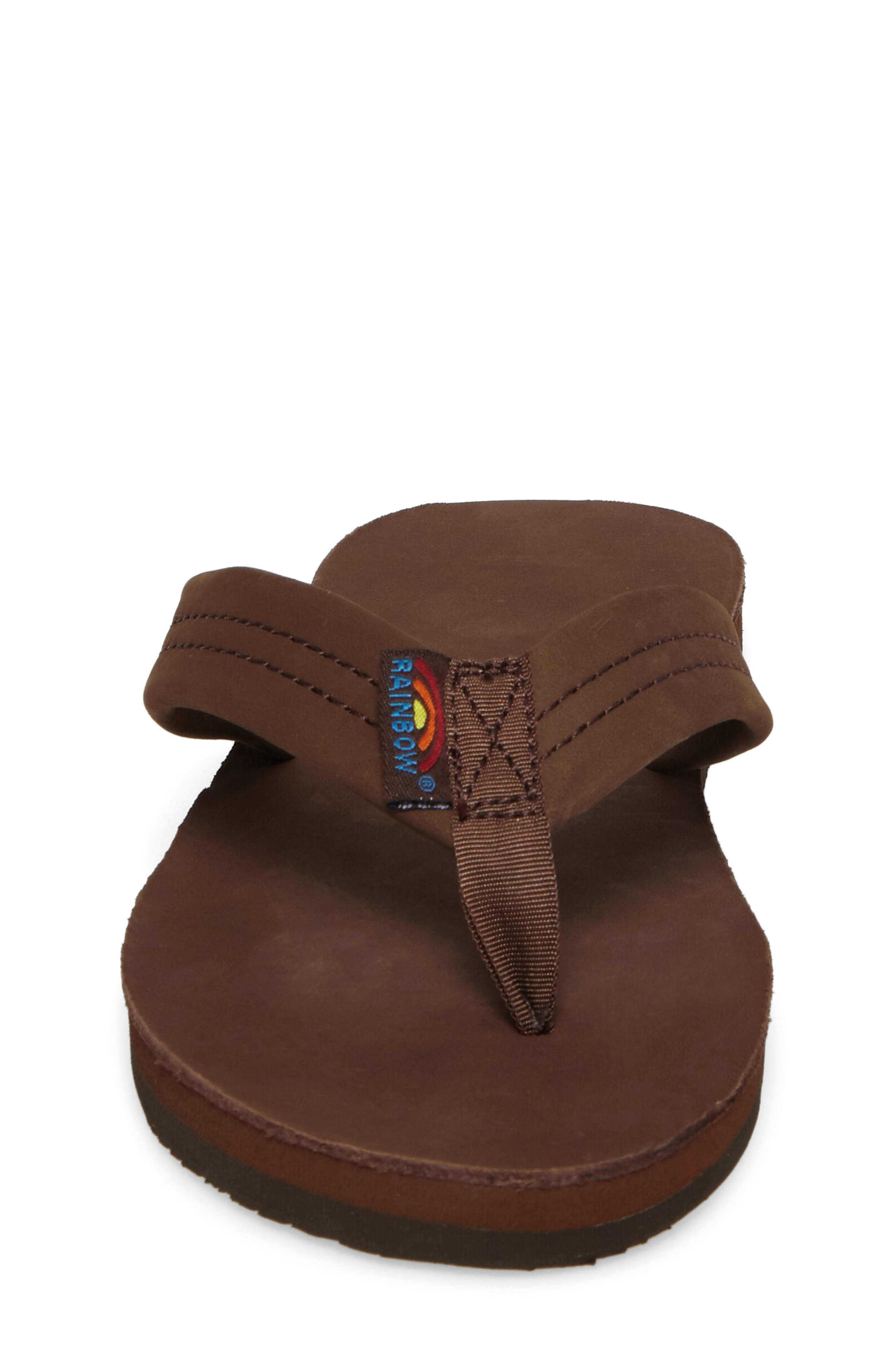 RAINBOW<SUP>®</SUP>, Rainbow Leather Sandal, Alternate thumbnail 4, color, EXPRESSO
