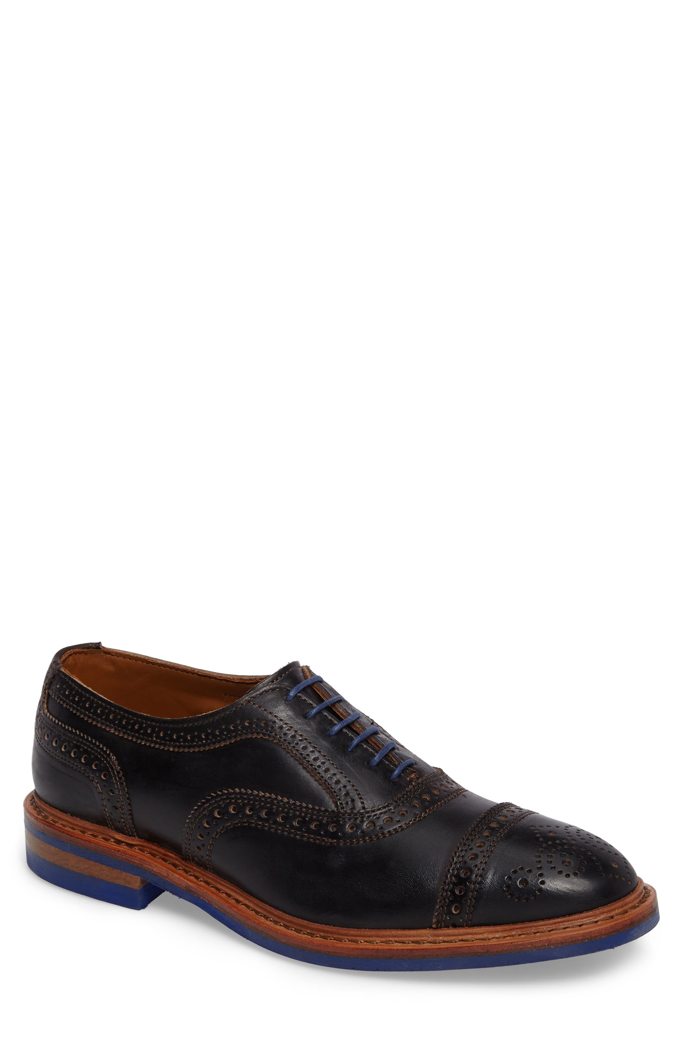 ALLEN EDMONDS, 'Strandmok' Cap Toe Oxford, Main thumbnail 1, color, BLACK LEATHER