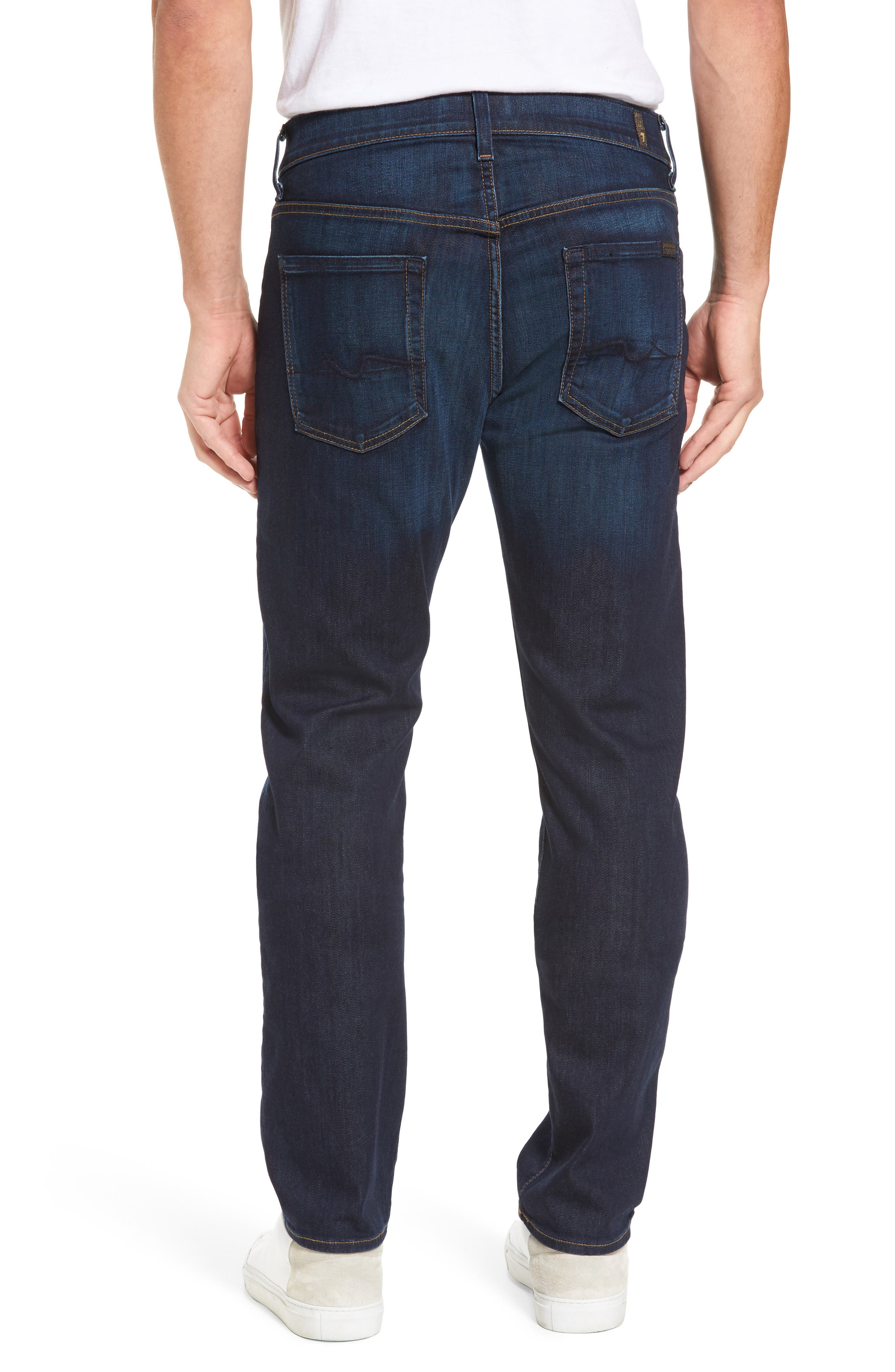 7 FOR ALL MANKIND<SUP>®</SUP>, Luxe Performance Straight Leg Jeans, Alternate thumbnail 2, color, NORTH PACIFIC