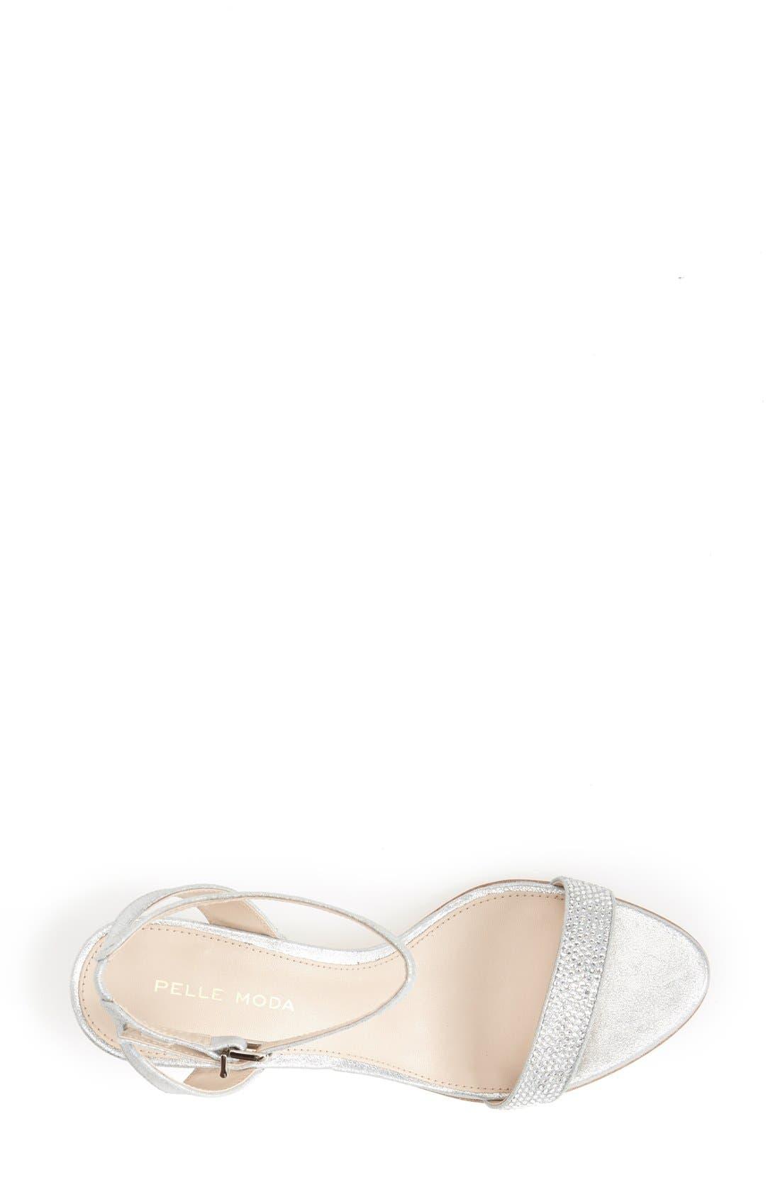 PELLE MODA, 'Fabia' Sandal, Alternate thumbnail 3, color, SILVER