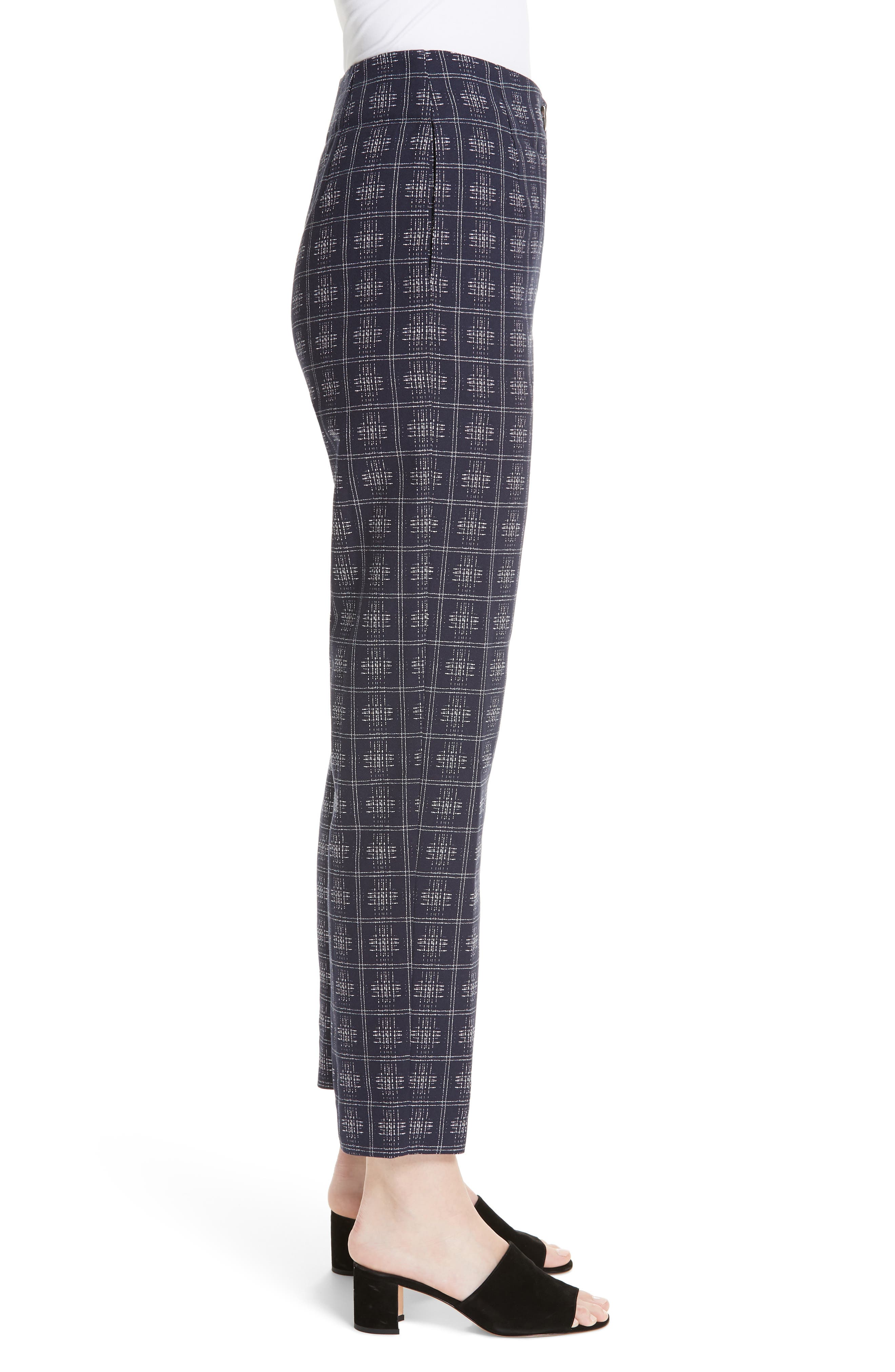 PALMER/HARDING, Fractured Trousers, Alternate thumbnail 3, color, NAVY CROSSHATCH CHECK