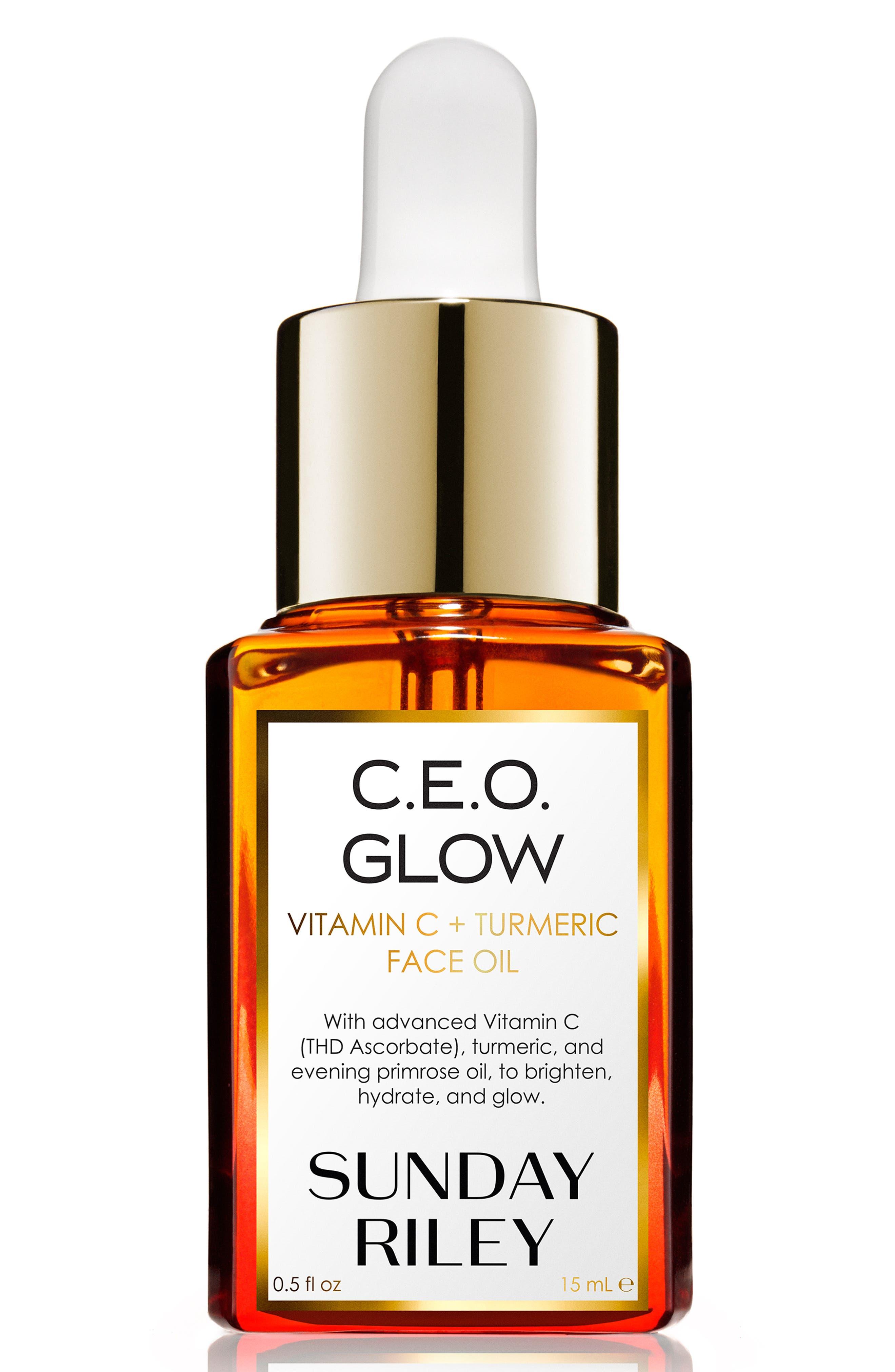 SUNDAY RILEY, SPACE.NK.apothecary Sunday Riley C.E.O. Glow Vitamin C + Turmeric Face Oil, Alternate thumbnail 7, color, NO COLOR