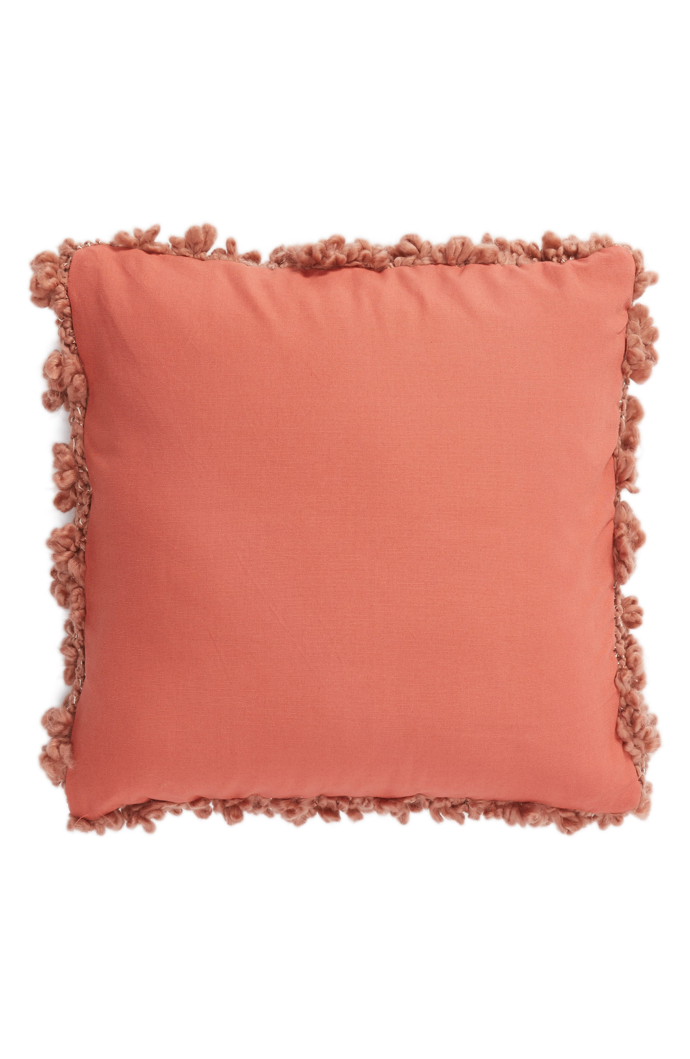 NORDSTROM AT HOME, Knit Pillow, Alternate thumbnail 2, color, PINK DAWN