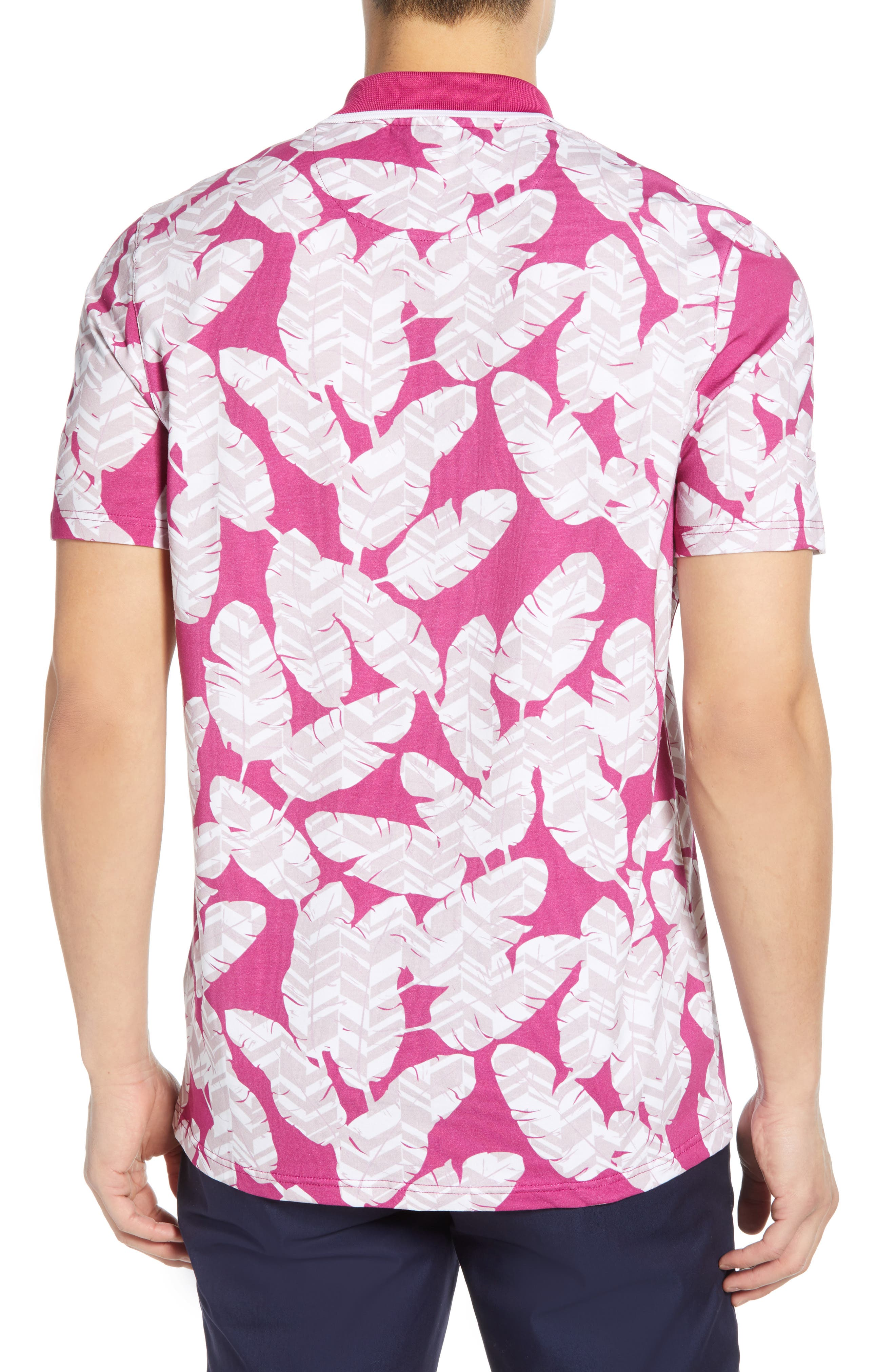 TED BAKER LONDON, Peacan Golf Polo, Alternate thumbnail 2, color, PINK