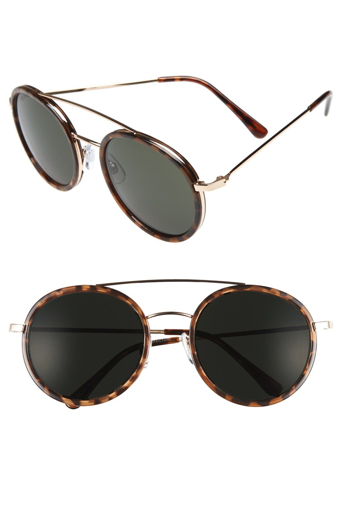 BP., Retro 50mm Round Sunglasses, Main thumbnail 1, color, 210