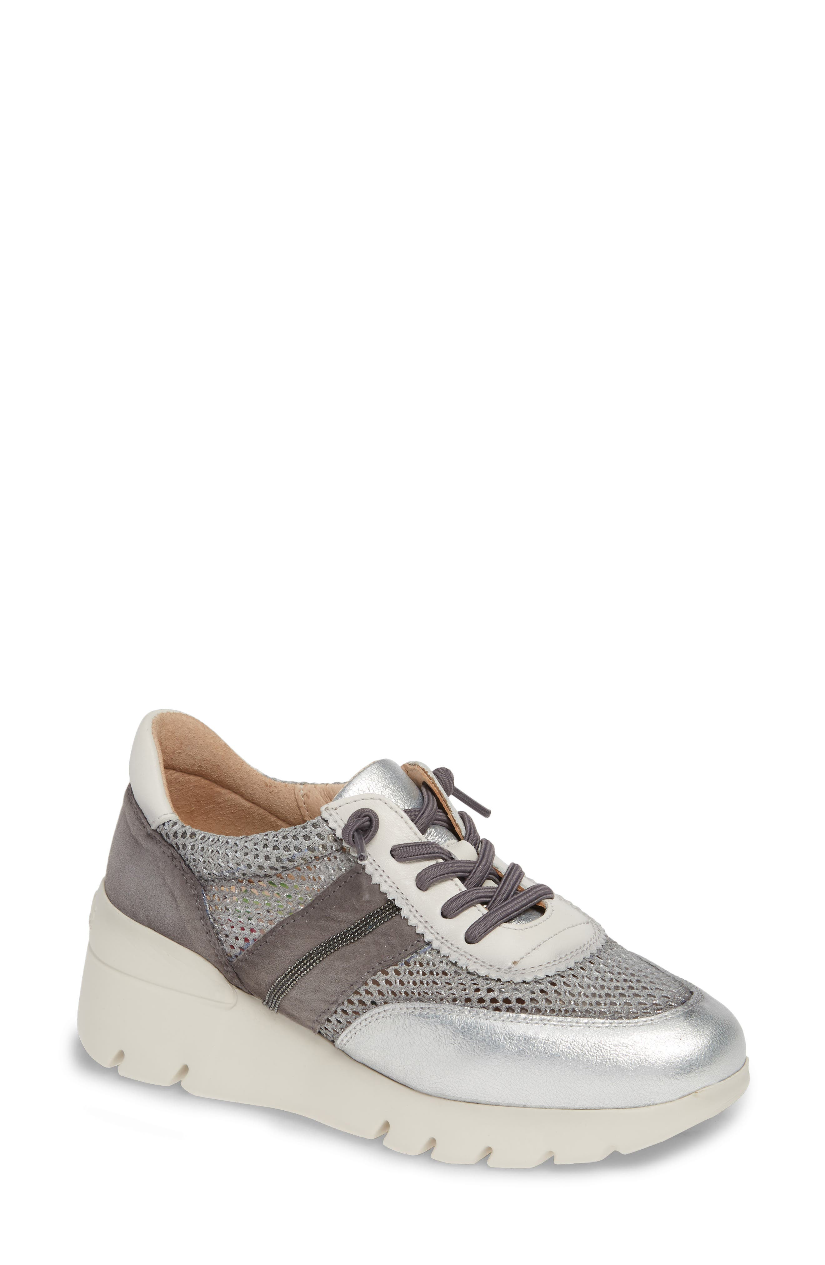 HISPANITAS, Ruth Sneaker, Main thumbnail 1, color, SILVER/ GREY SUEDE