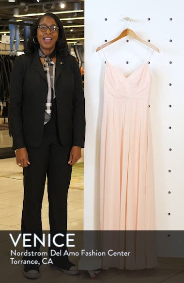 Surplice Neck Chiffon Evening Dress, sales video thumbnail