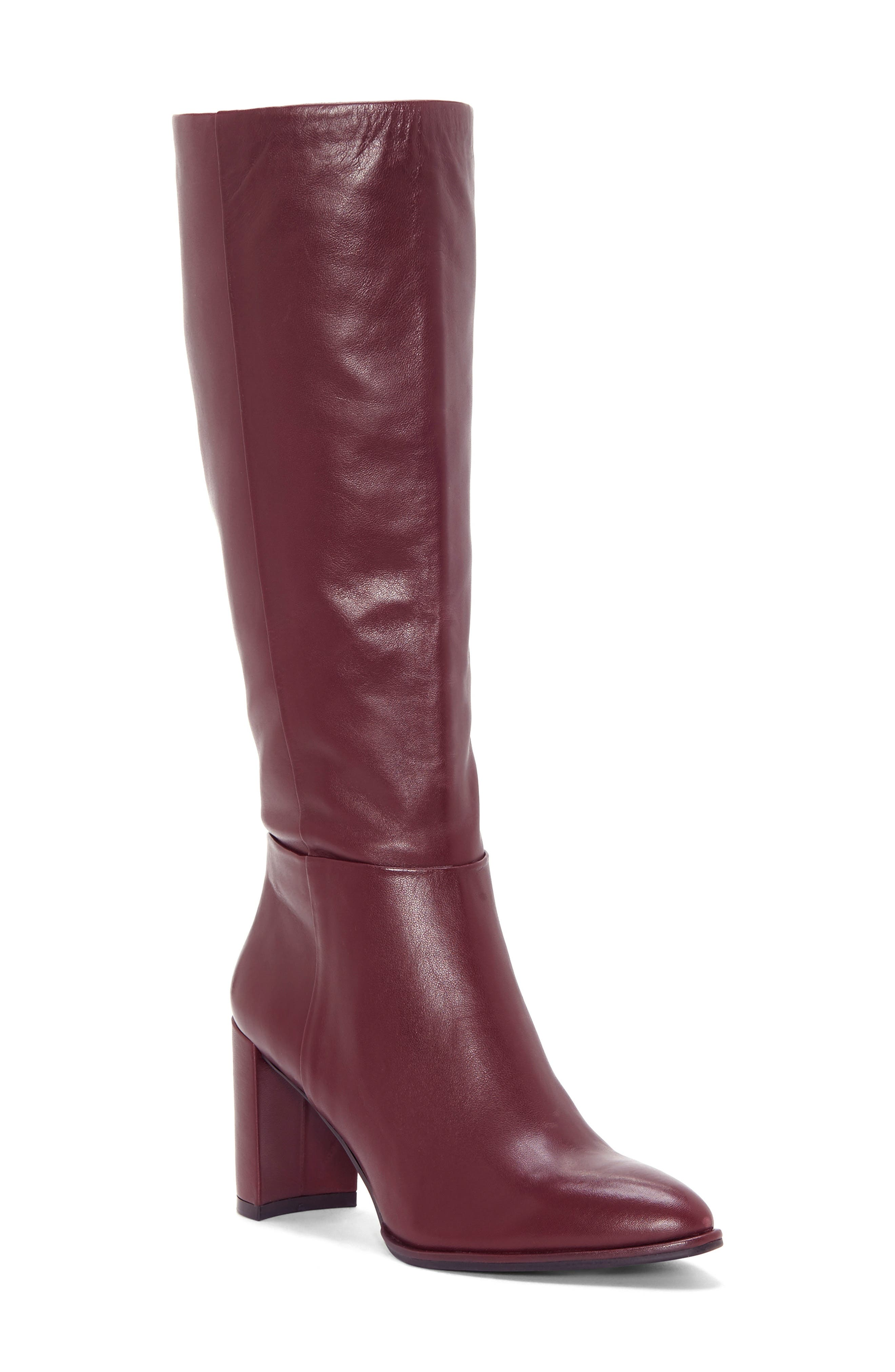 ENZO ANGIOLINI Wenda Knee High Boot, Main, color, MULLED WINE LEATHER