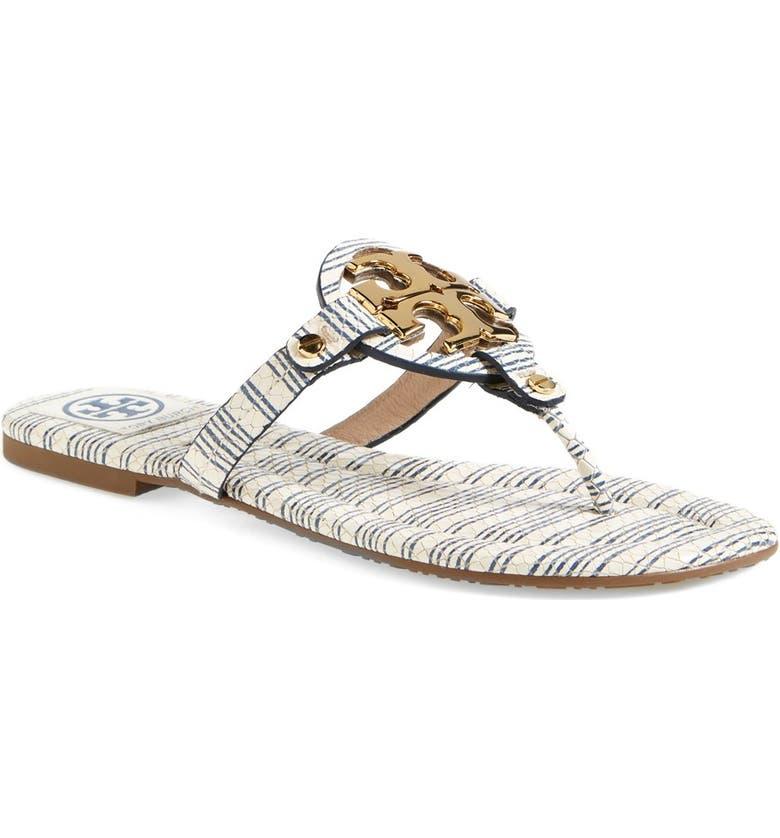 6723db2a4554 Tory Burch  Miller  Leather Thong Sandal (Women)