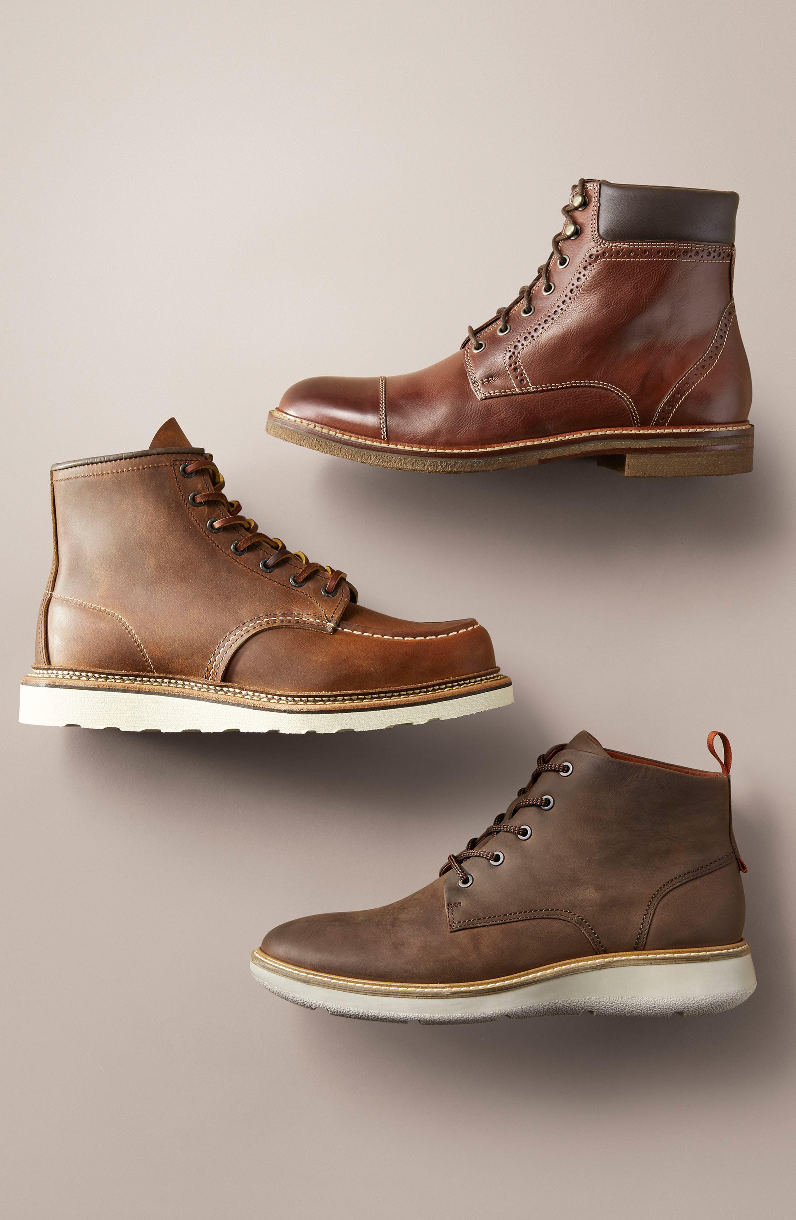 J&M 1850, Forrester Cap Toe Boot, Alternate thumbnail 7, color, MAHOGANY LEATHER