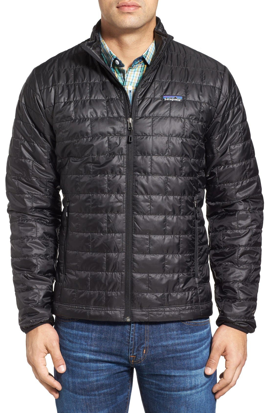 PATAGONIA, 'Nano Puff<sup>®</sup>' Water Resistant Jacket, Main thumbnail 1, color, BLACK