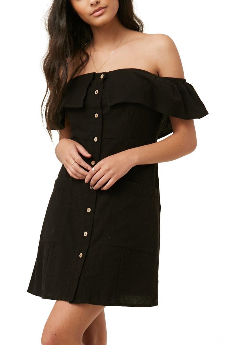 4c0a6769d532 O Neill Esmeralda Off-the-Shoulder Cotton Dress