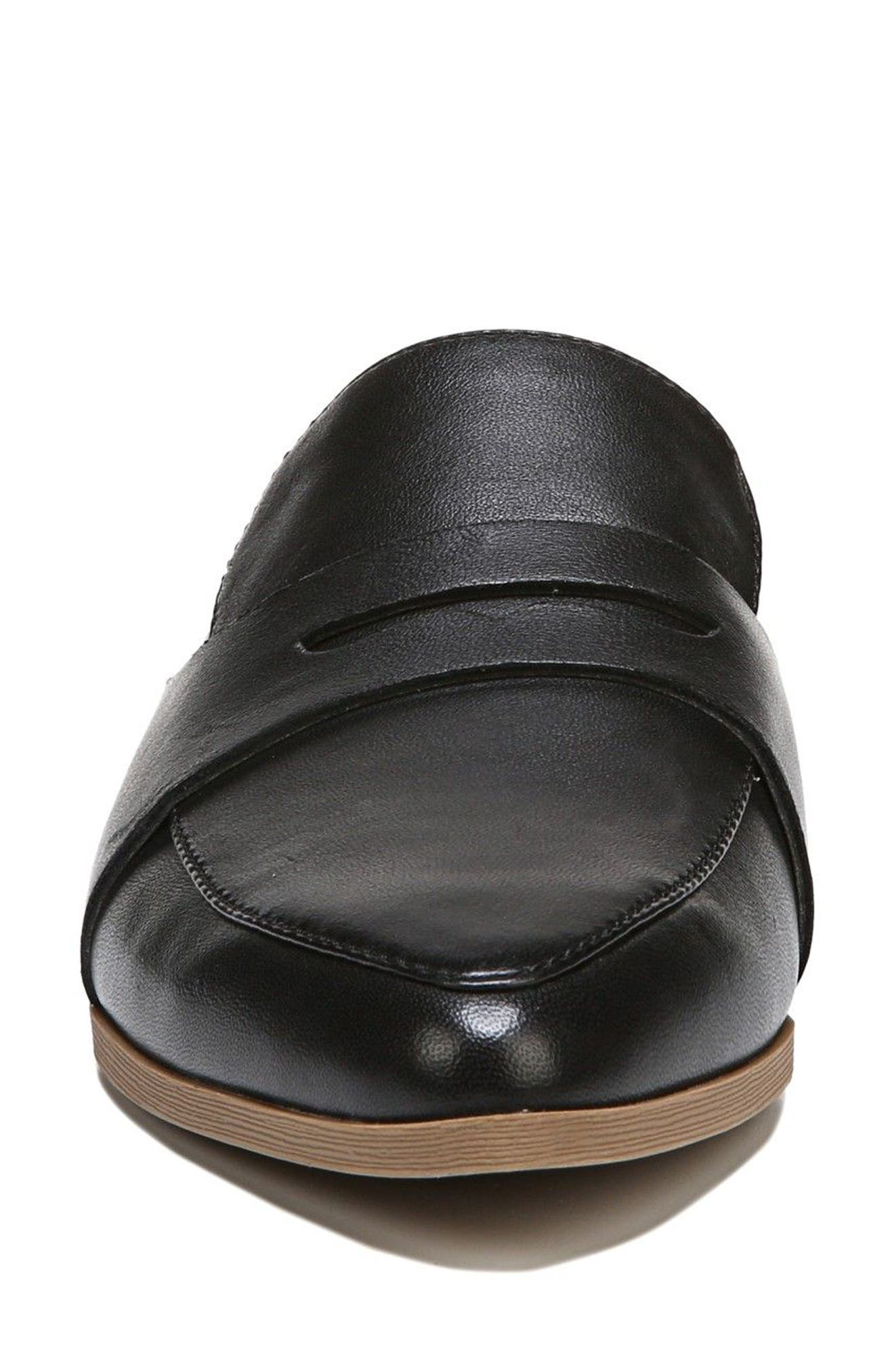 DR. SCHOLL'S, Eden Mule, Alternate thumbnail 4, color, BLACK LEATHER