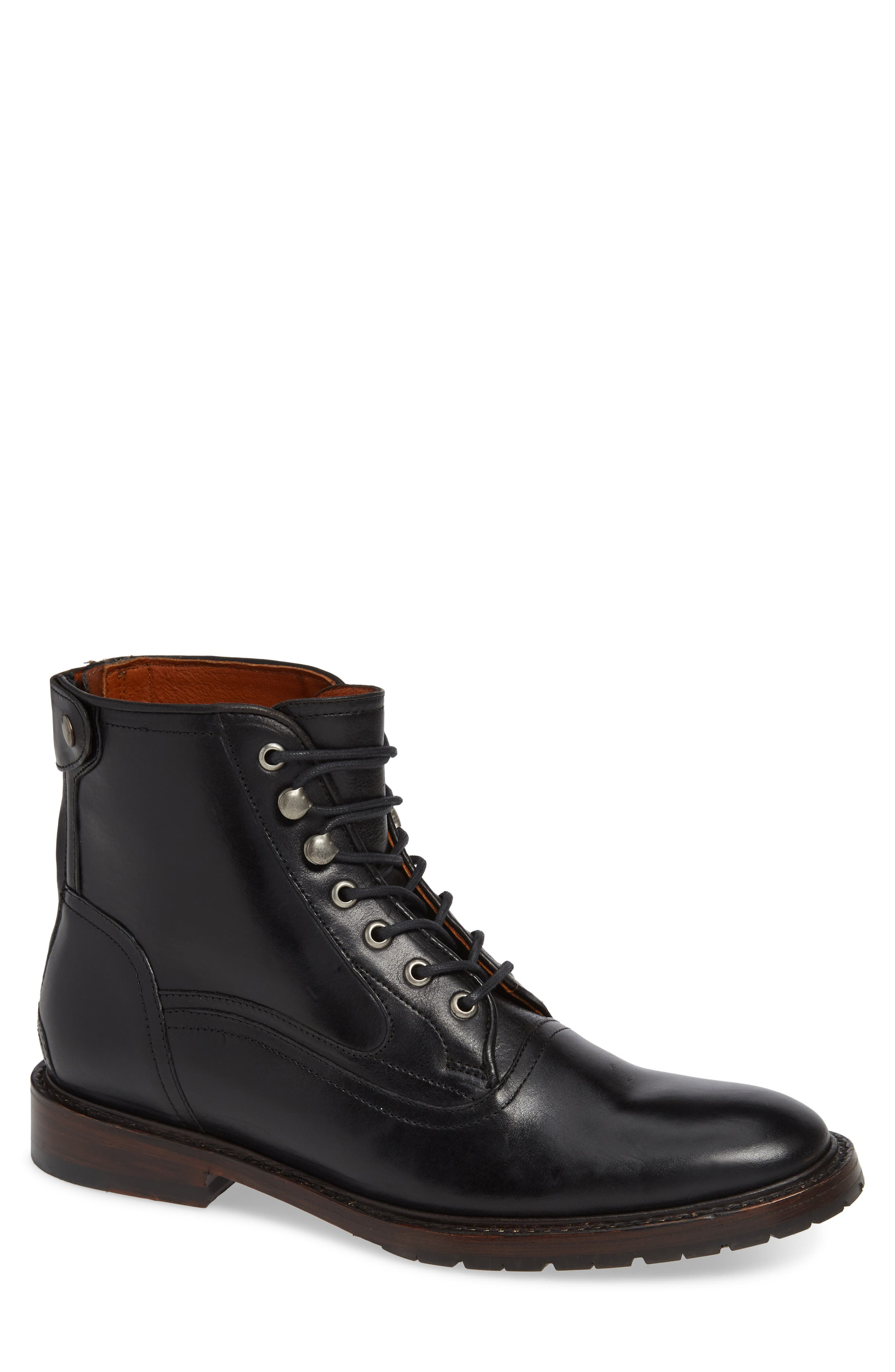 TWO24, by Ariat Fairfax Plain Toe Boot, Main thumbnail 1, color, BLACK LEATHER