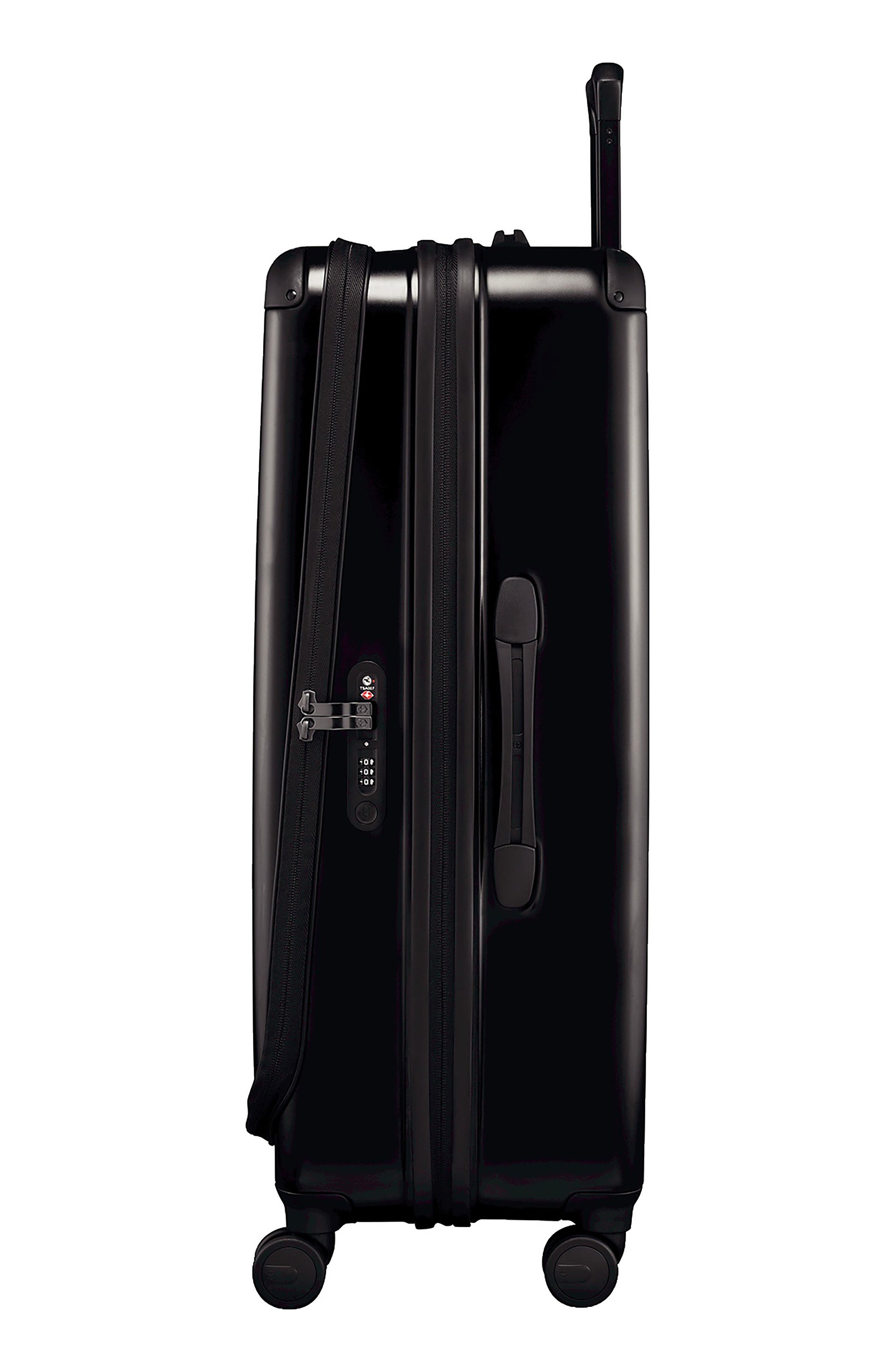 VICTORINOX SWISS ARMY<SUP>®</SUP>, Spectra 2.0 32 Inch Hard Sided Rolling Travel Suitcase, Alternate thumbnail 3, color, BLACK
