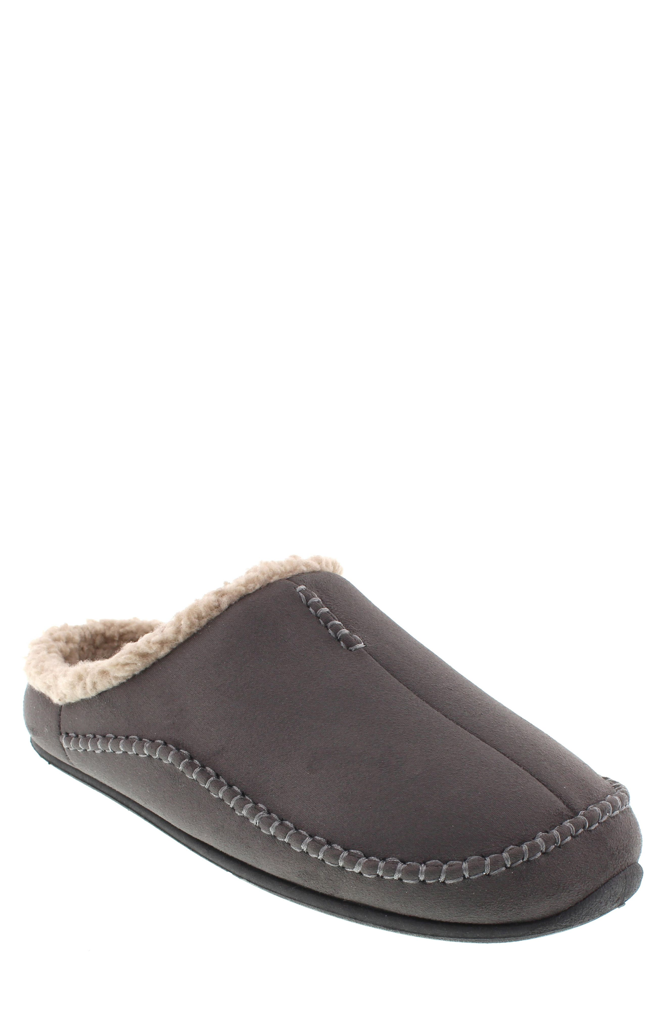 DEER STAGS, 'Nordic' Slipper, Main thumbnail 1, color, DARK GREY
