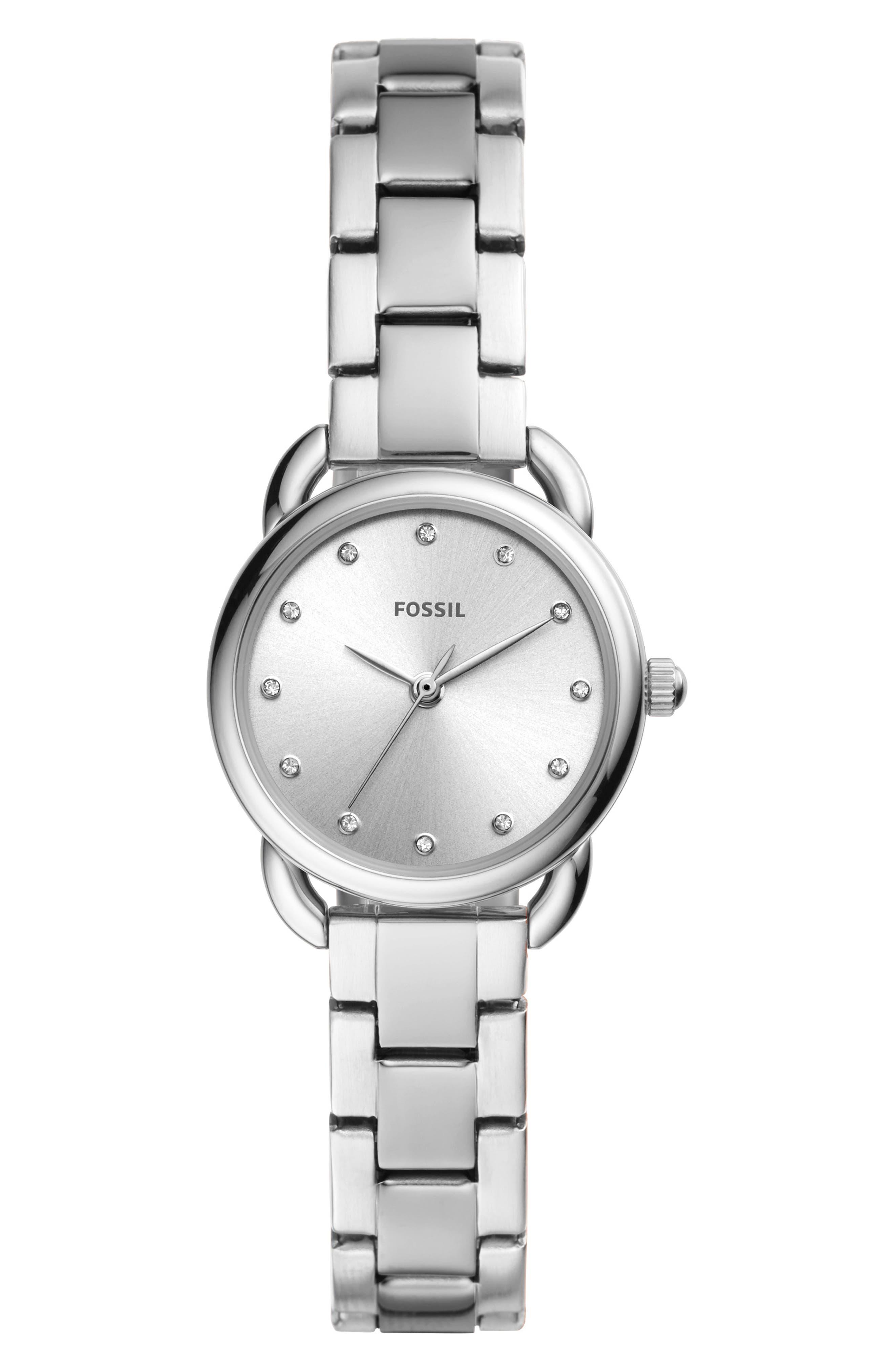 FOSSIL, Mini Tailor Bracelet Watch, 26mm, Main thumbnail 1, color, 040