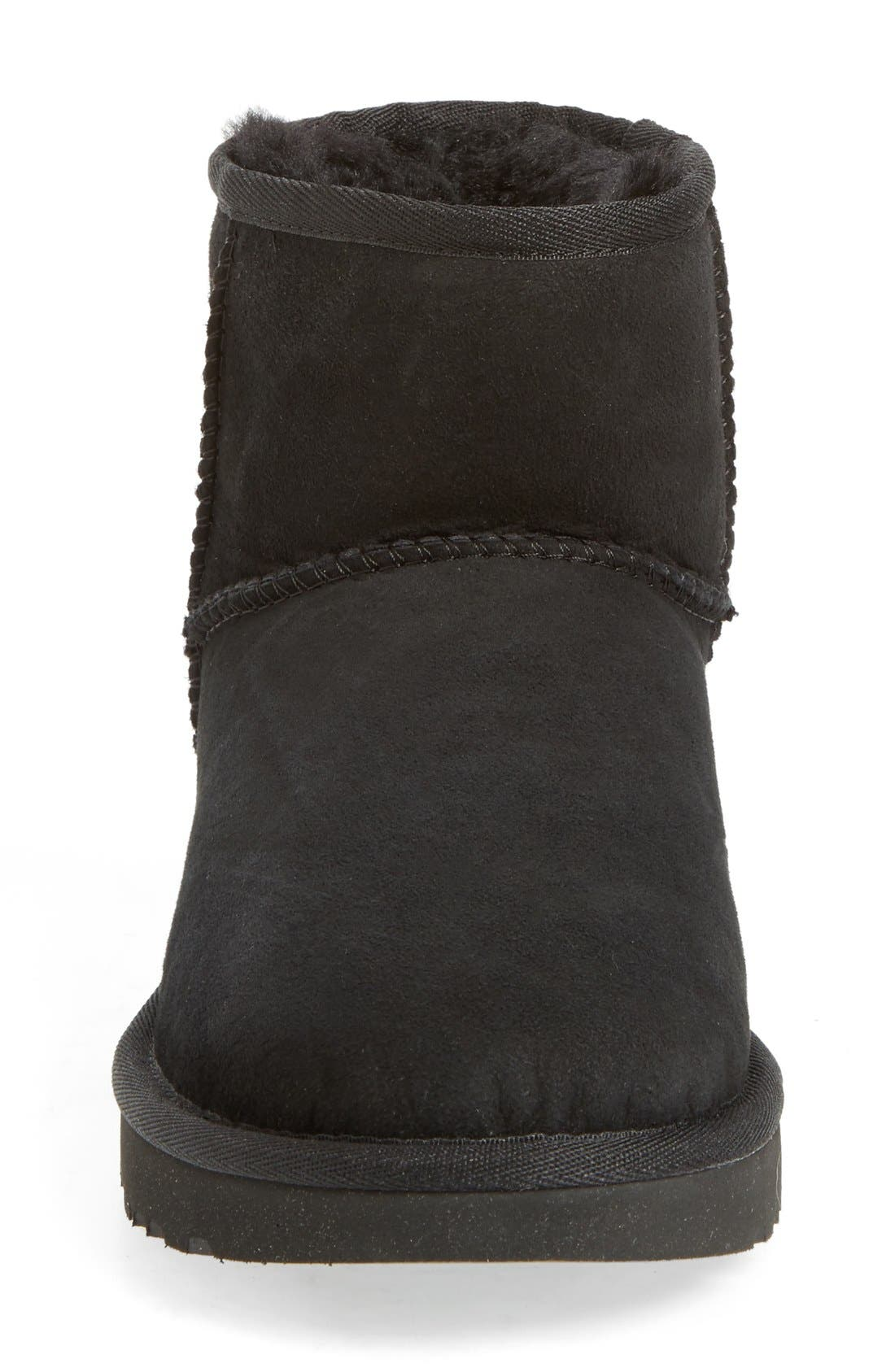 UGG<SUP>®</SUP>, Classic Mini II Genuine Shearling Lined Boot, Alternate thumbnail 4, color, BLACK SUEDE