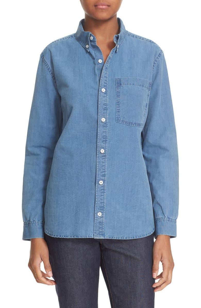 fe30f75854 A.P.C. 'Lynn' Cotton Chambray Shirt   Nordstrom