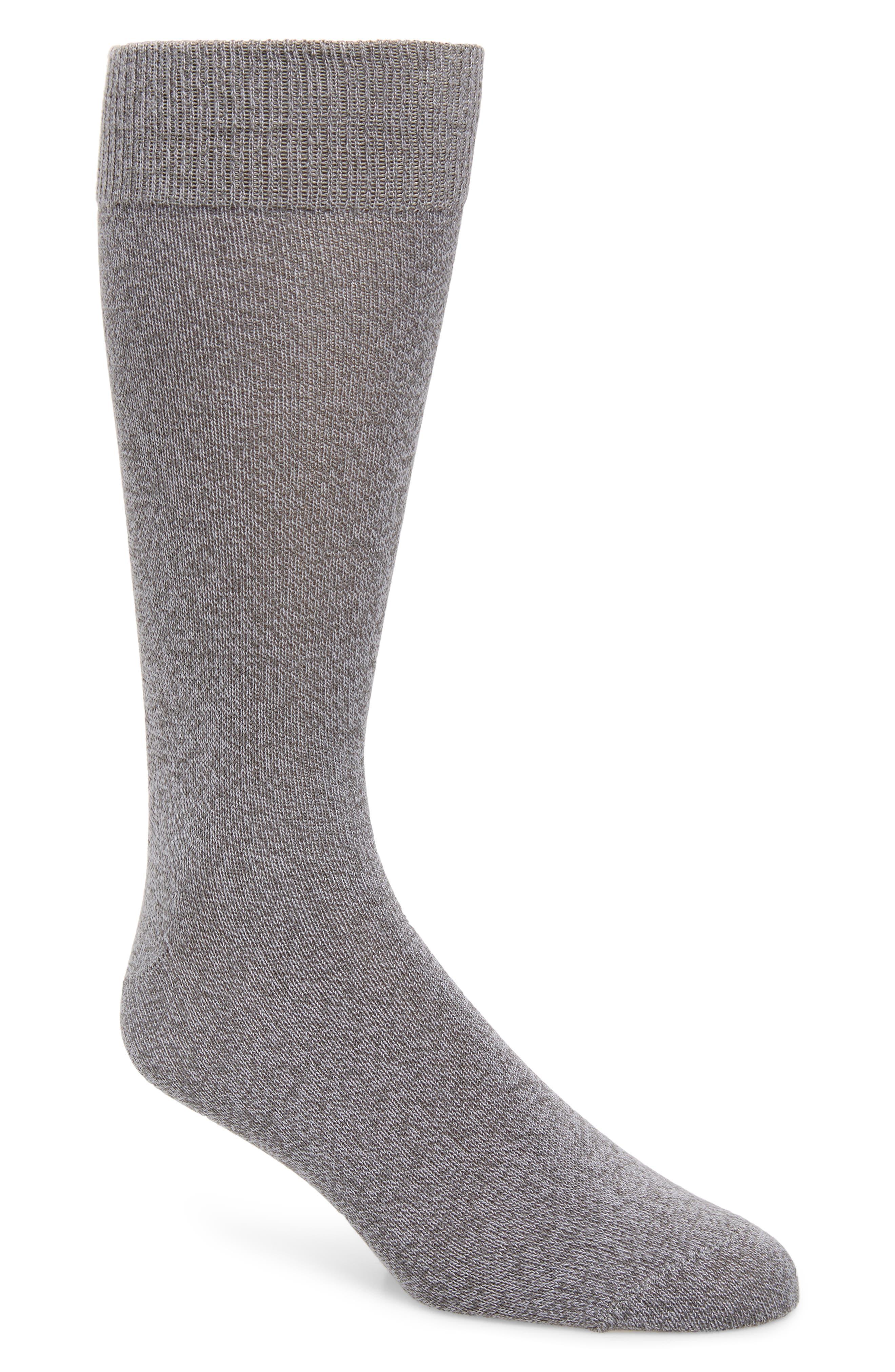 NORDSTROM MEN'S SHOP Ultrasoft Solid Socks, Main, color, GREY ALLOY