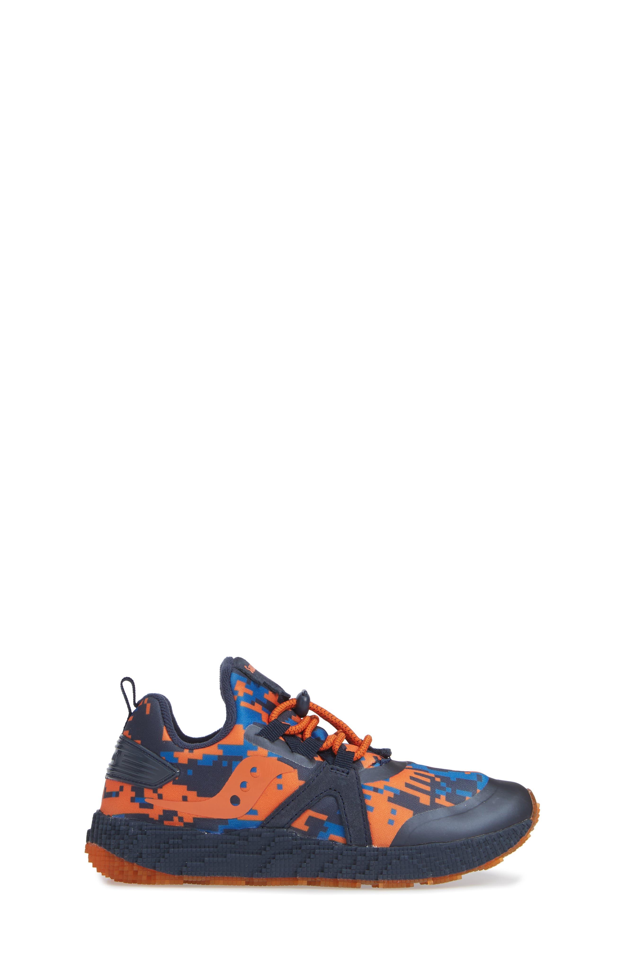 SAUCONY, Voxel 9000 Sneaker, Alternate thumbnail 3, color, BLUE LEATHER/ MESH