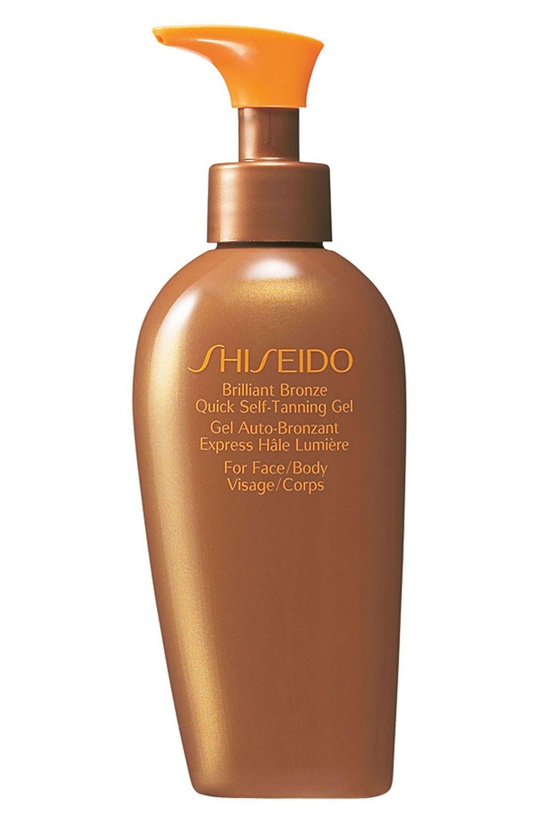 SHISEIDO, Brilliant Bronze Quick Self-Tanning Gel, Main thumbnail 1, color, 000