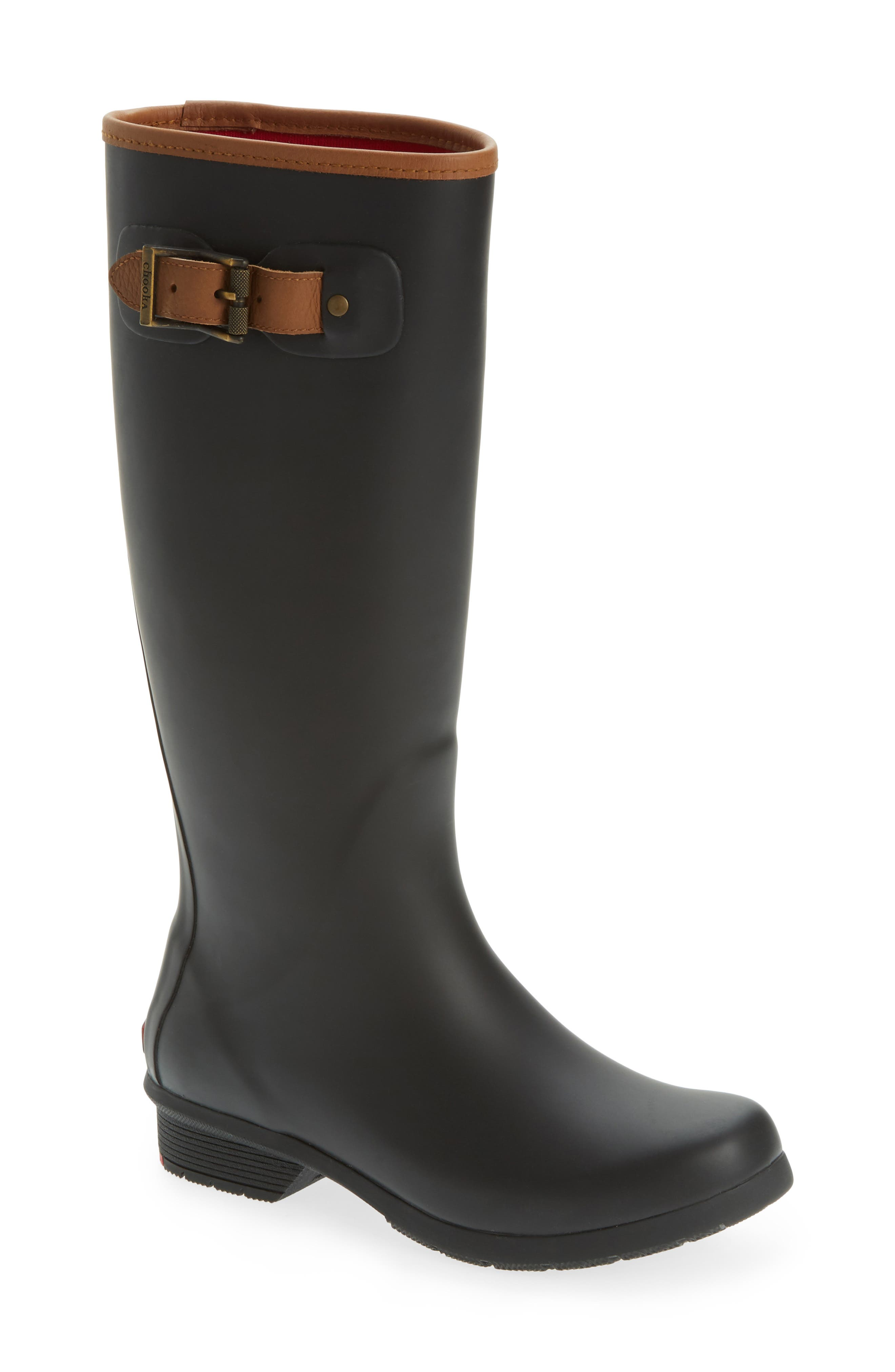 CHOOKA, City Tall Rain Boot, Main thumbnail 1, color, BLACK