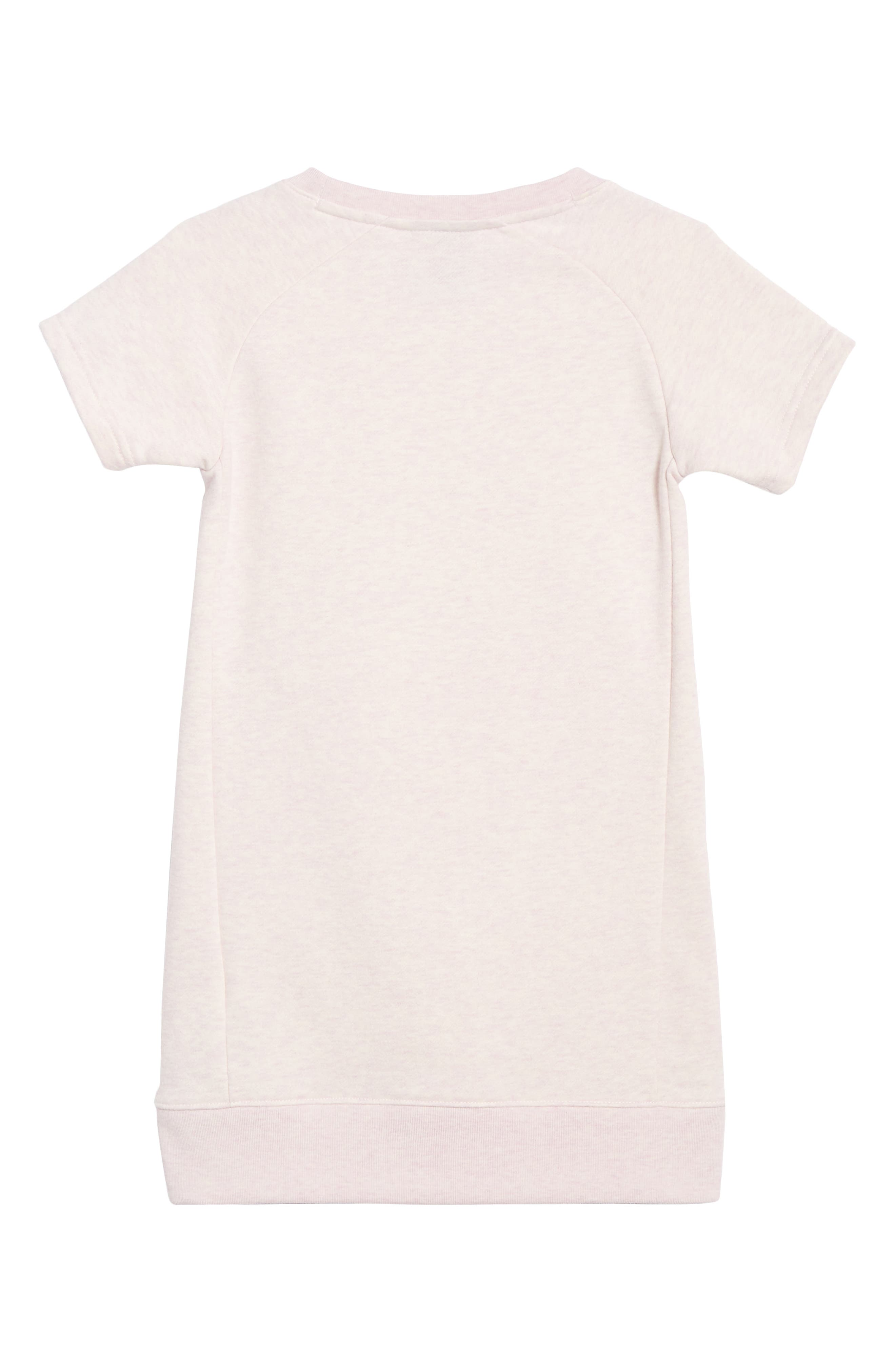 NIKE, French Terry Dress, Alternate thumbnail 2, color, PINK FOAM HEATHER